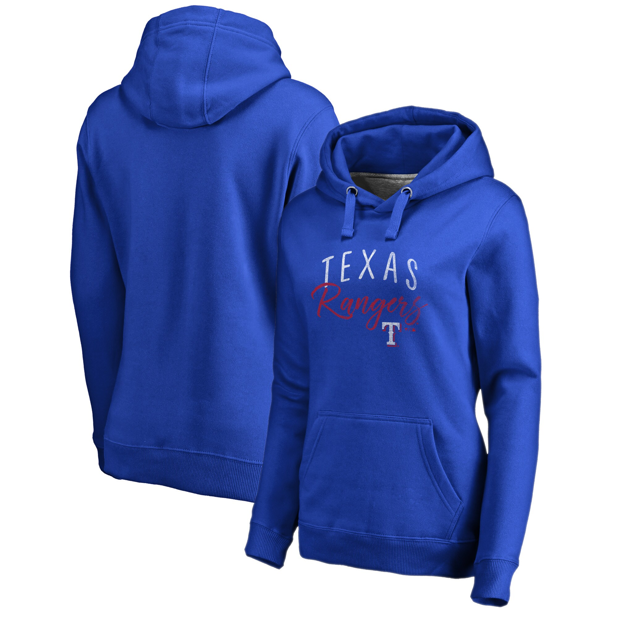 Texas Rangers Fanatics Branded Women's Plus Size Graceful Pullover Hoodie - Royal