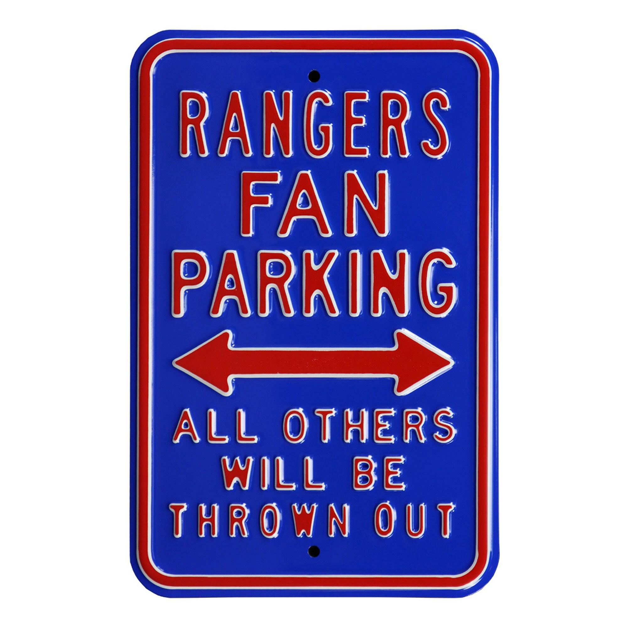 "Texas Rangers 12"" x 18"" Steel Parking Sign"