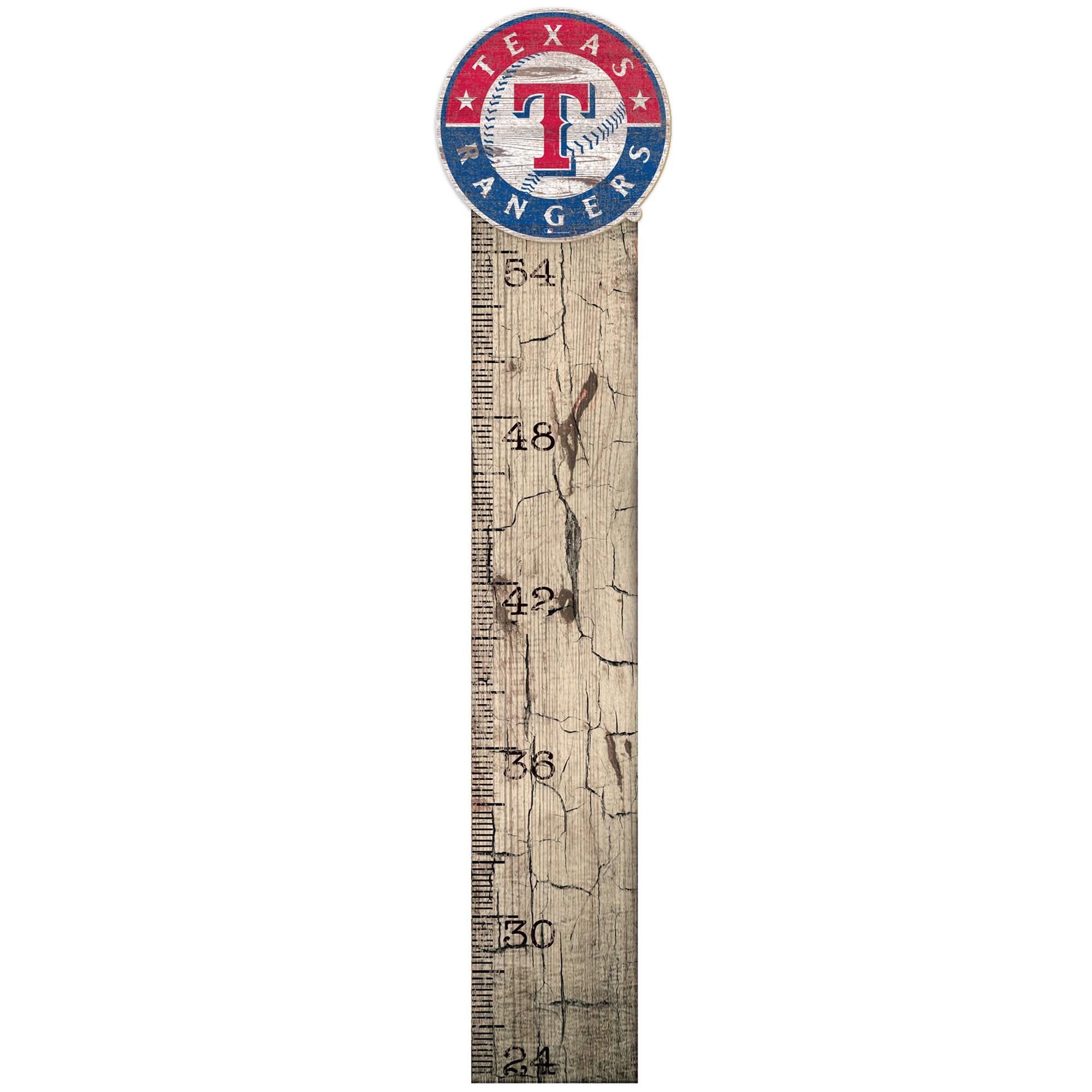 "Texas Rangers 6"" x 36"" Growth Chart Sign"