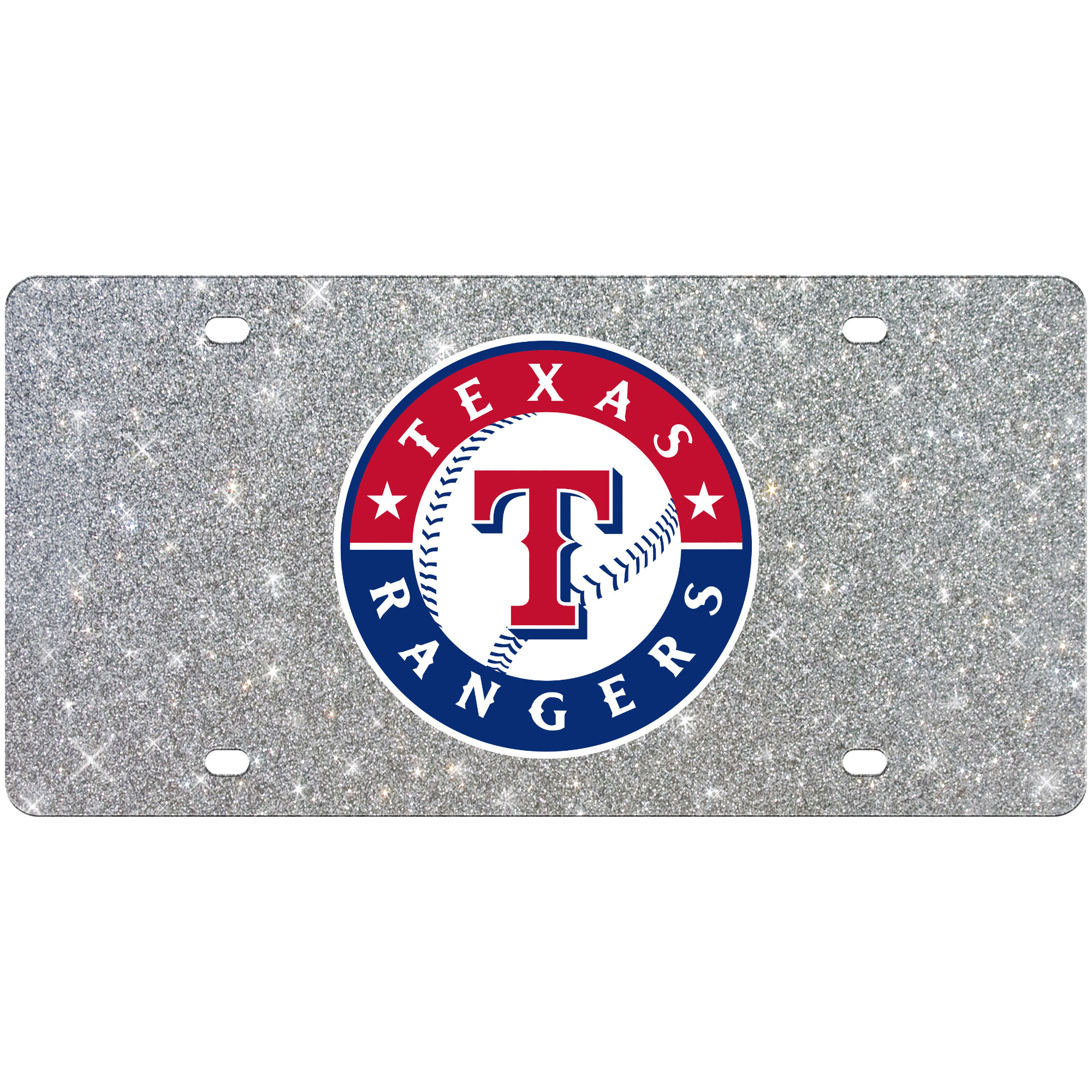 Texas Rangers WinCraft Acrylic Glitter License Plate