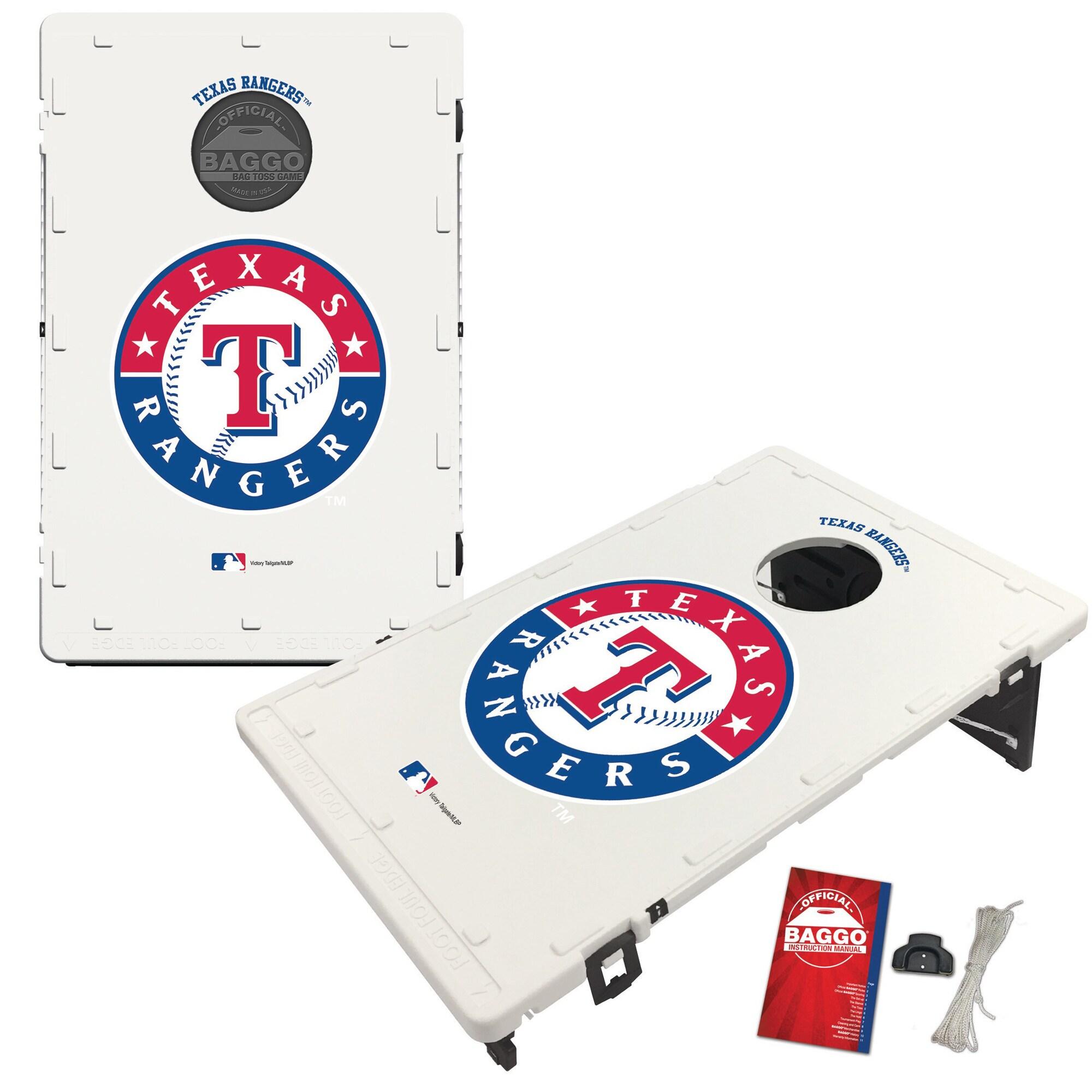 Texas Rangers 2' x 3' BAGGO Classic Cornhole Board Tailgate Toss Set