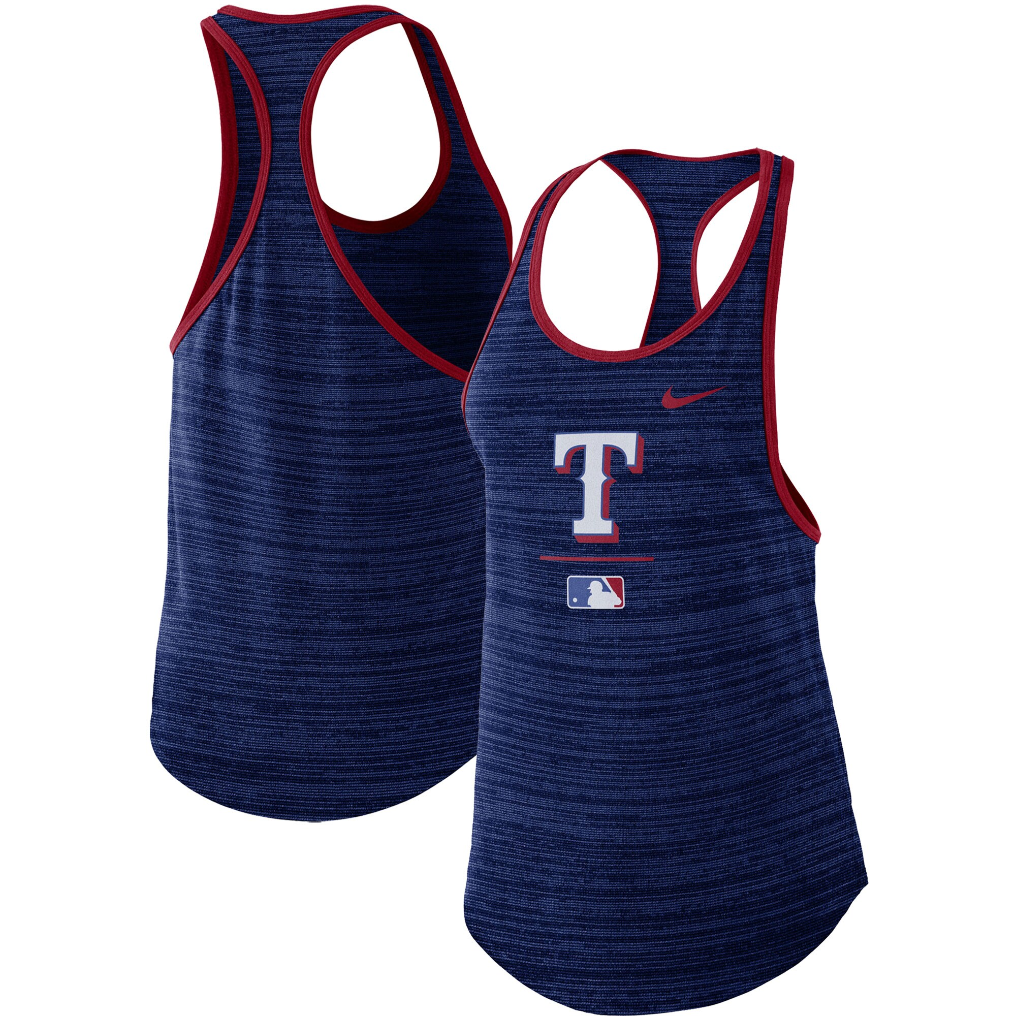 Texas Rangers Nike Women's Authentic Collection Velocity Team Issue Racerback Tank Top - Royal