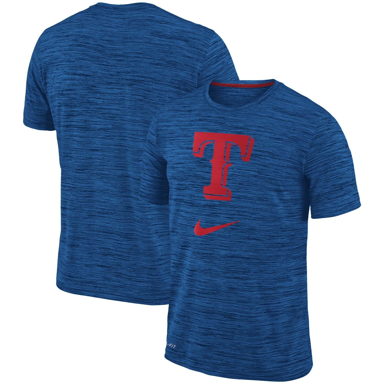 Texas Rangers Nike Velocity Performance T-Shirt - Royal