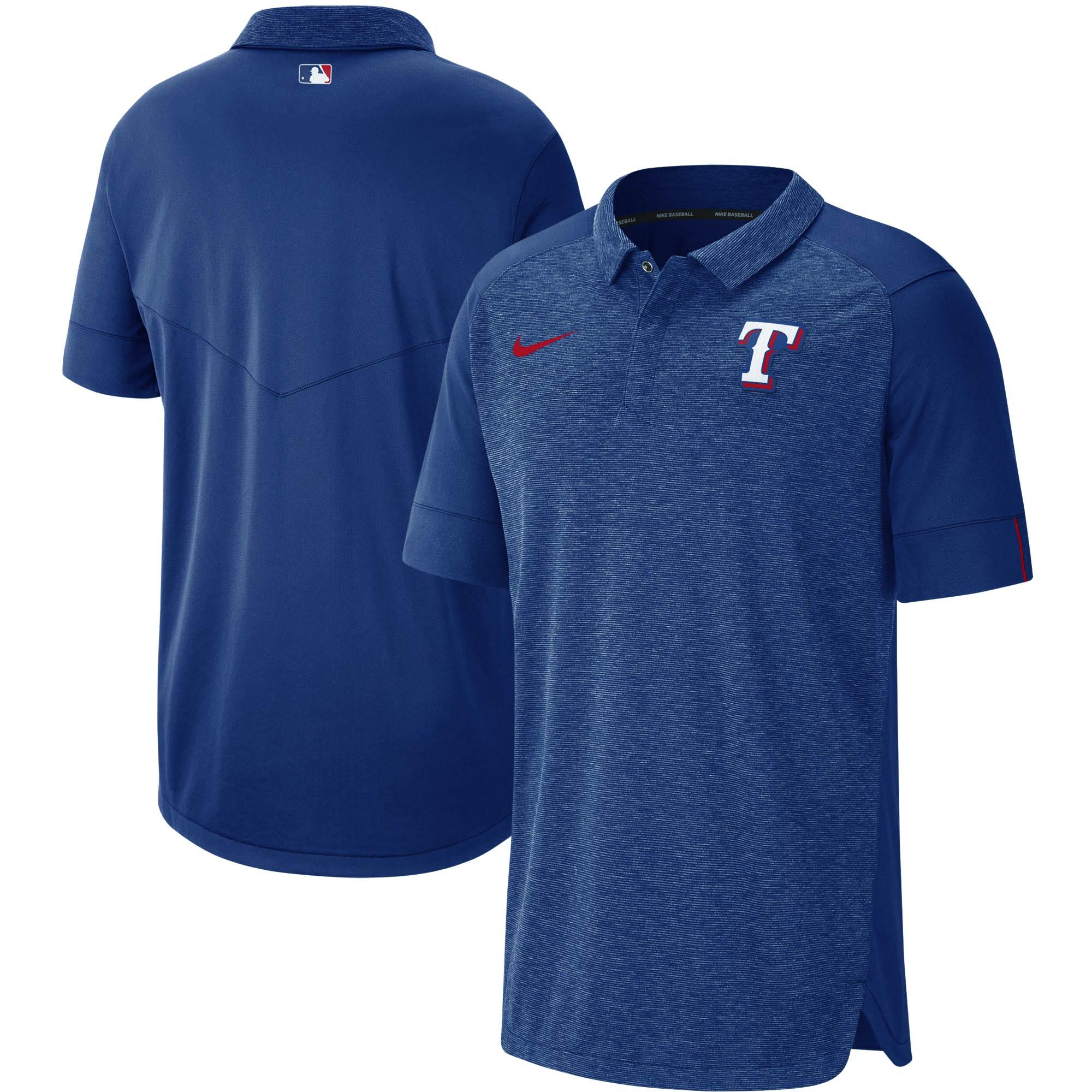 Texas Rangers Nike Authentic Collection Team Logo Elite Polo - Royal