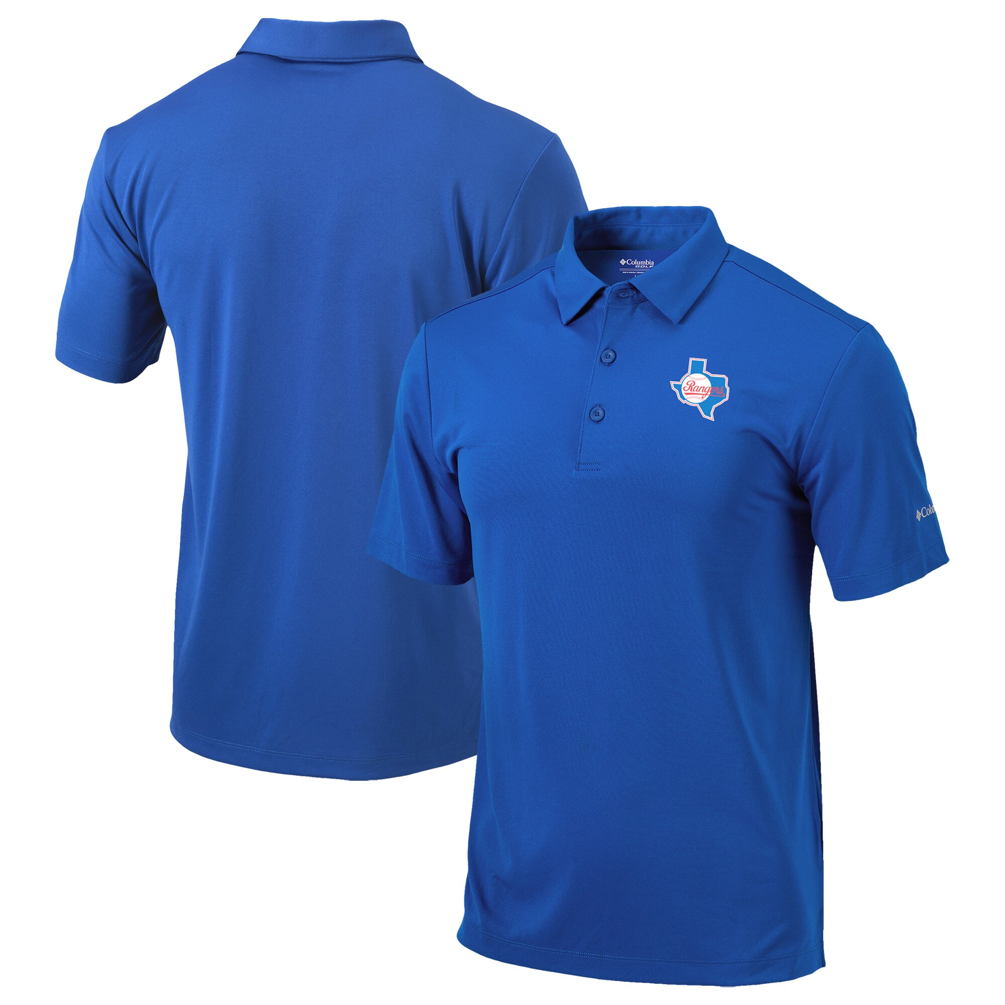 Texas Rangers Columbia Cooperstown Collection Drive Polo - Royal
