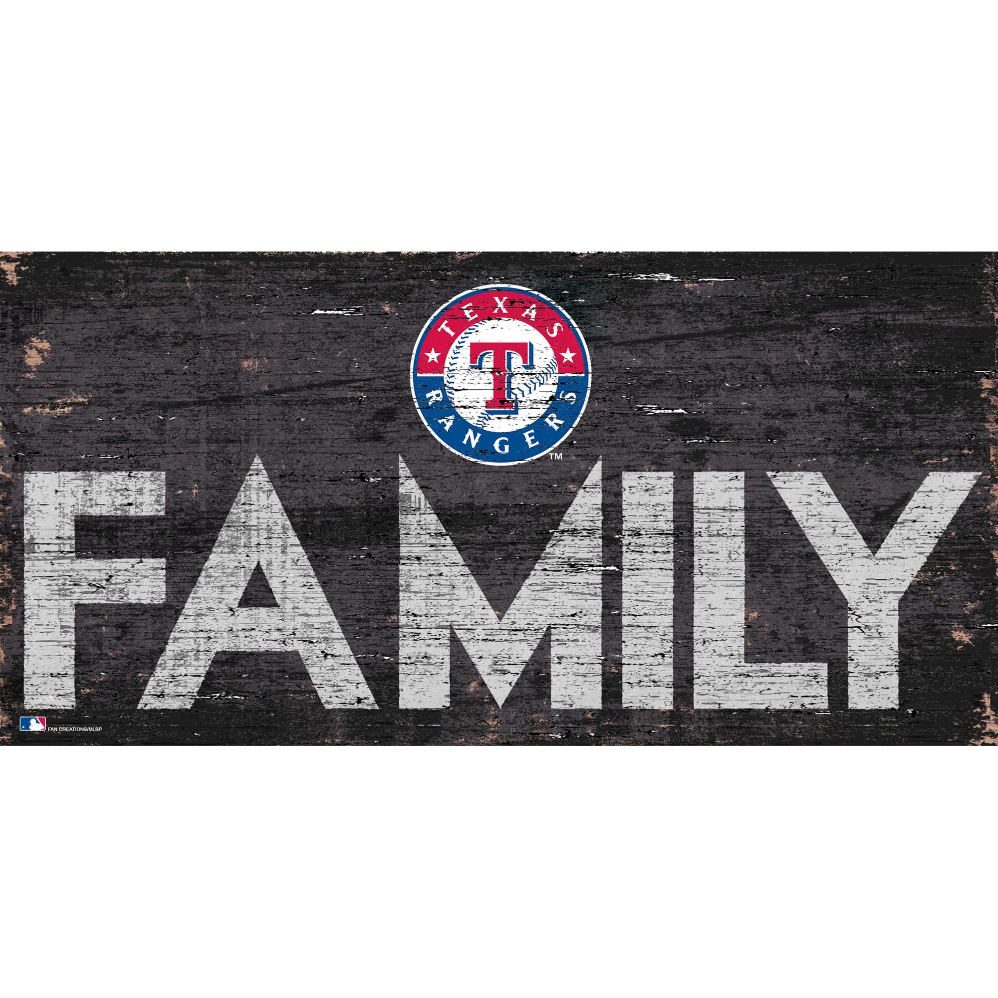 Texas Rangers 12'' x 6'' Family Sign