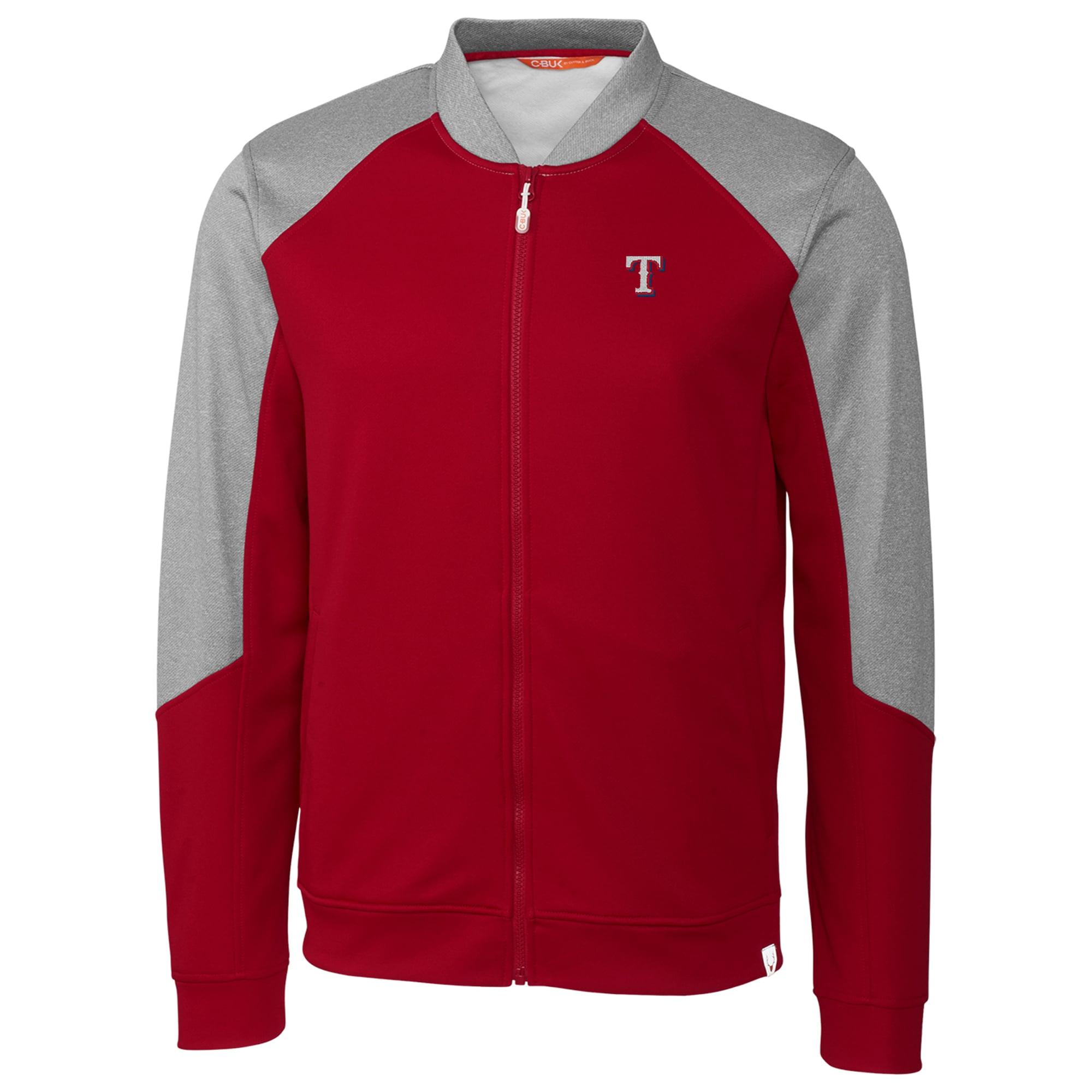 Texas Rangers Cutter & Buck Pop Fly Full-Zip Jacket - Red