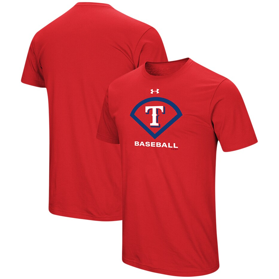 Texas Rangers Under Armour Performance Icon T-Shirt - Red