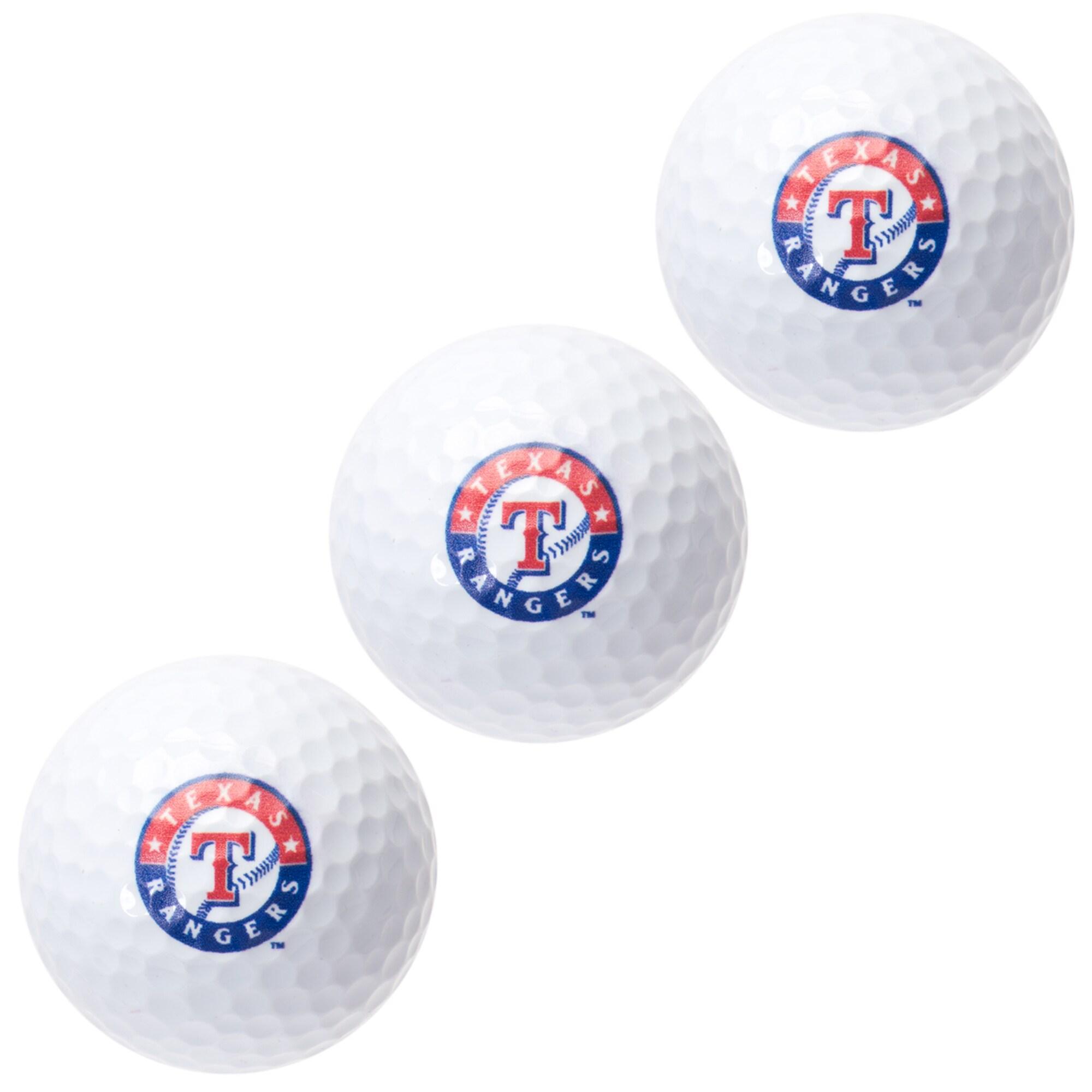 Texas Rangers Pack of 3 Golf Balls