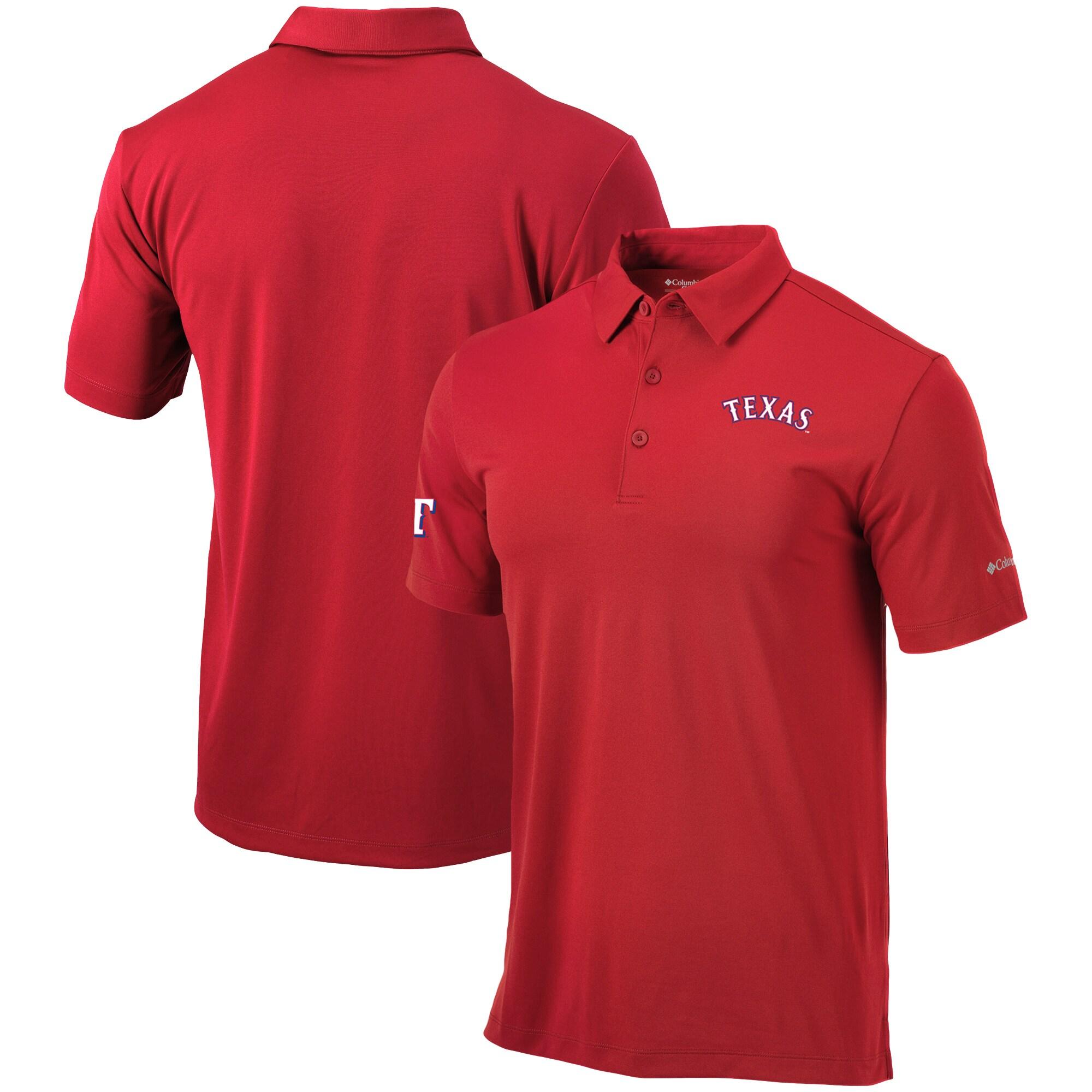 Texas Rangers Columbia Drive Omni-Wick Polo - Red