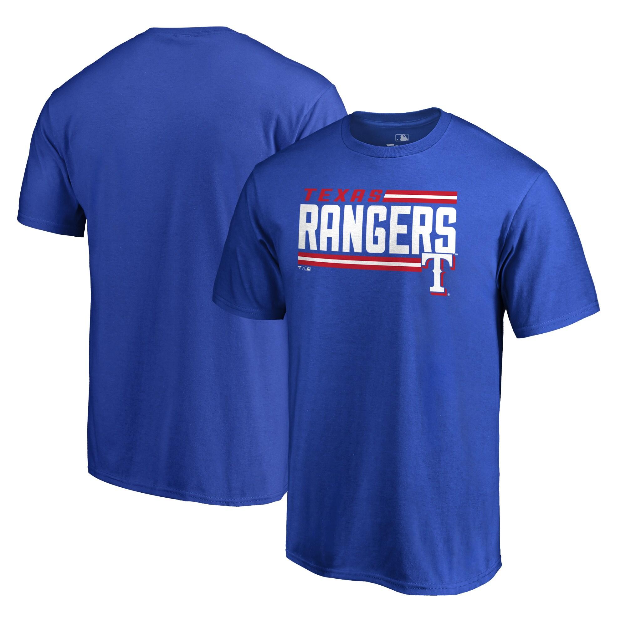 Texas Rangers Fanatics Branded Onside Stripe T-Shirt - Royal