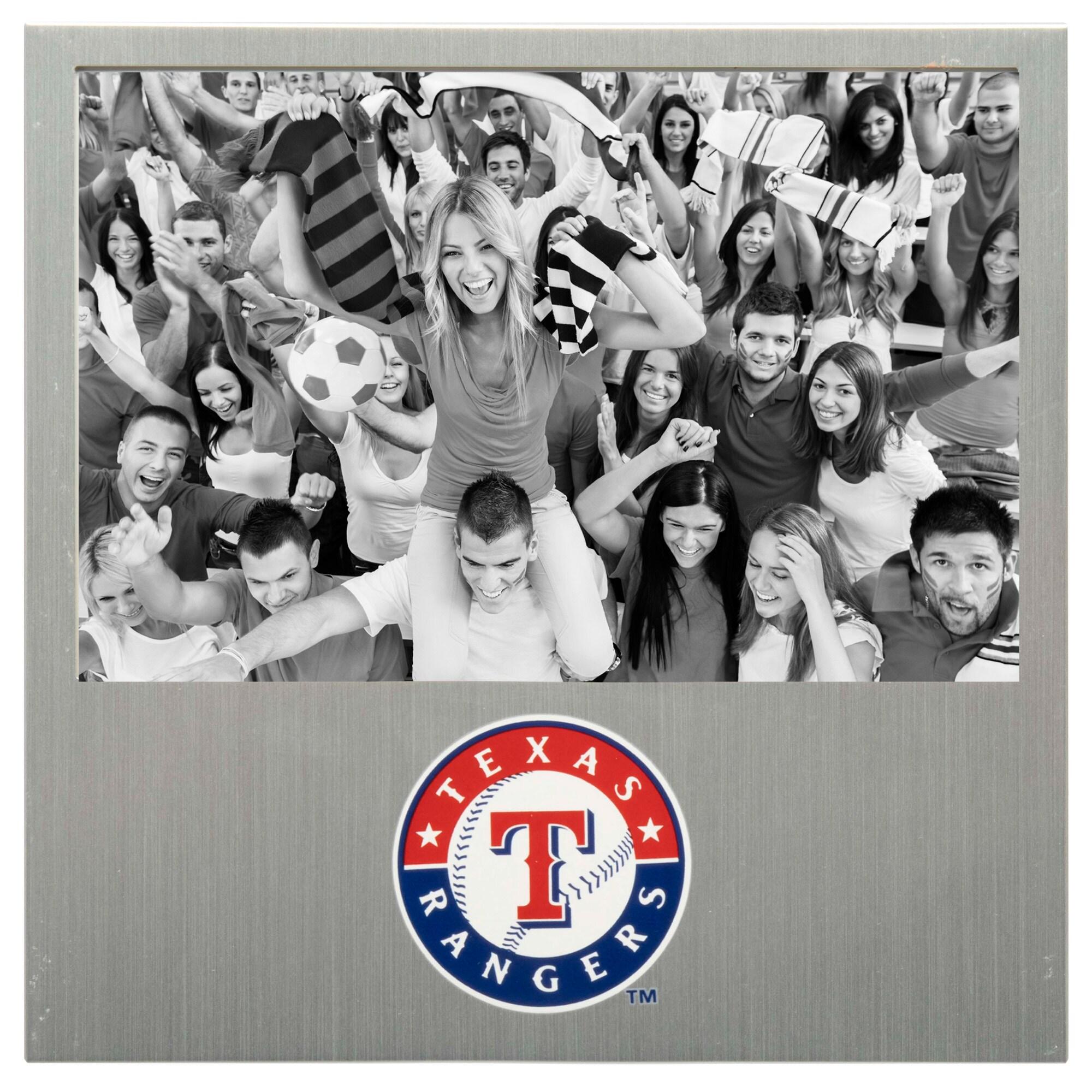 "Texas Rangers 4"" x 6"" Aluminum Picture Frame"