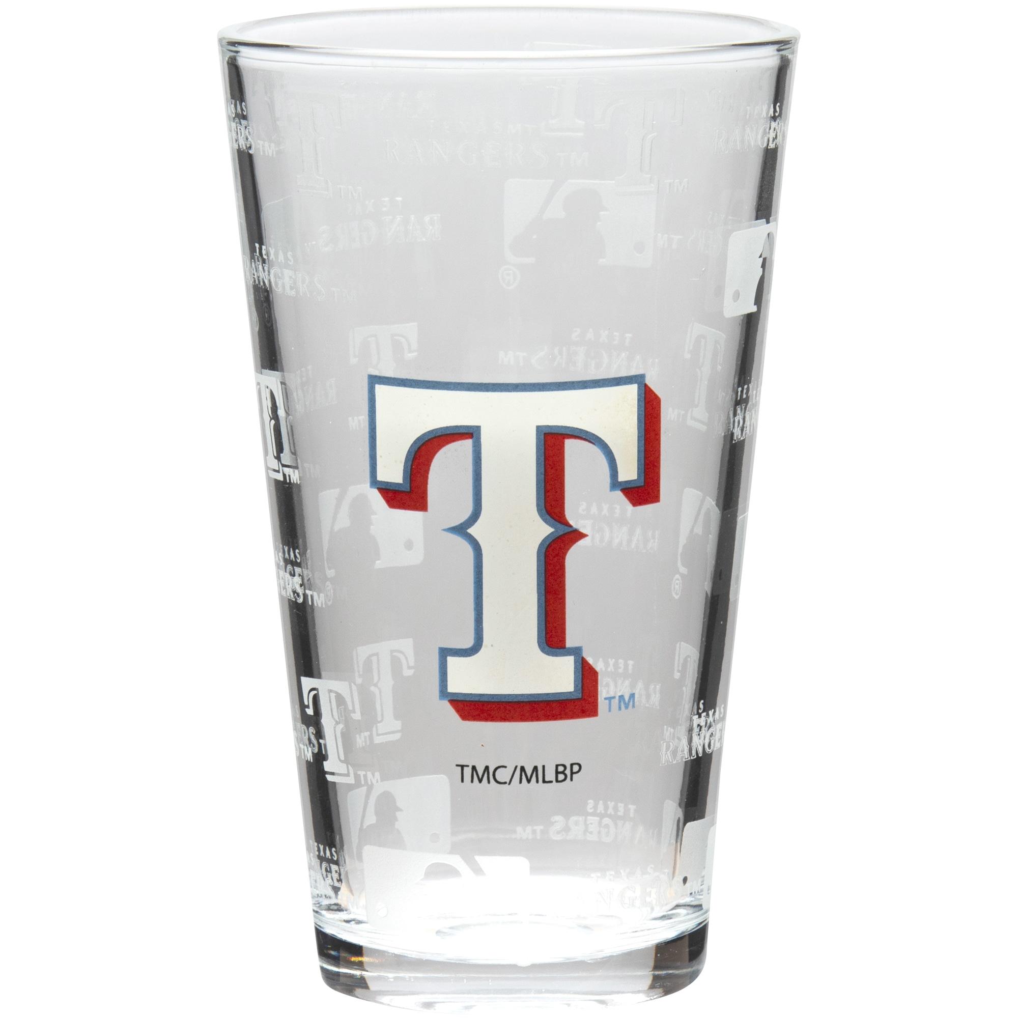 Texas Rangers 16oz. Sandblasted Mixing Glass