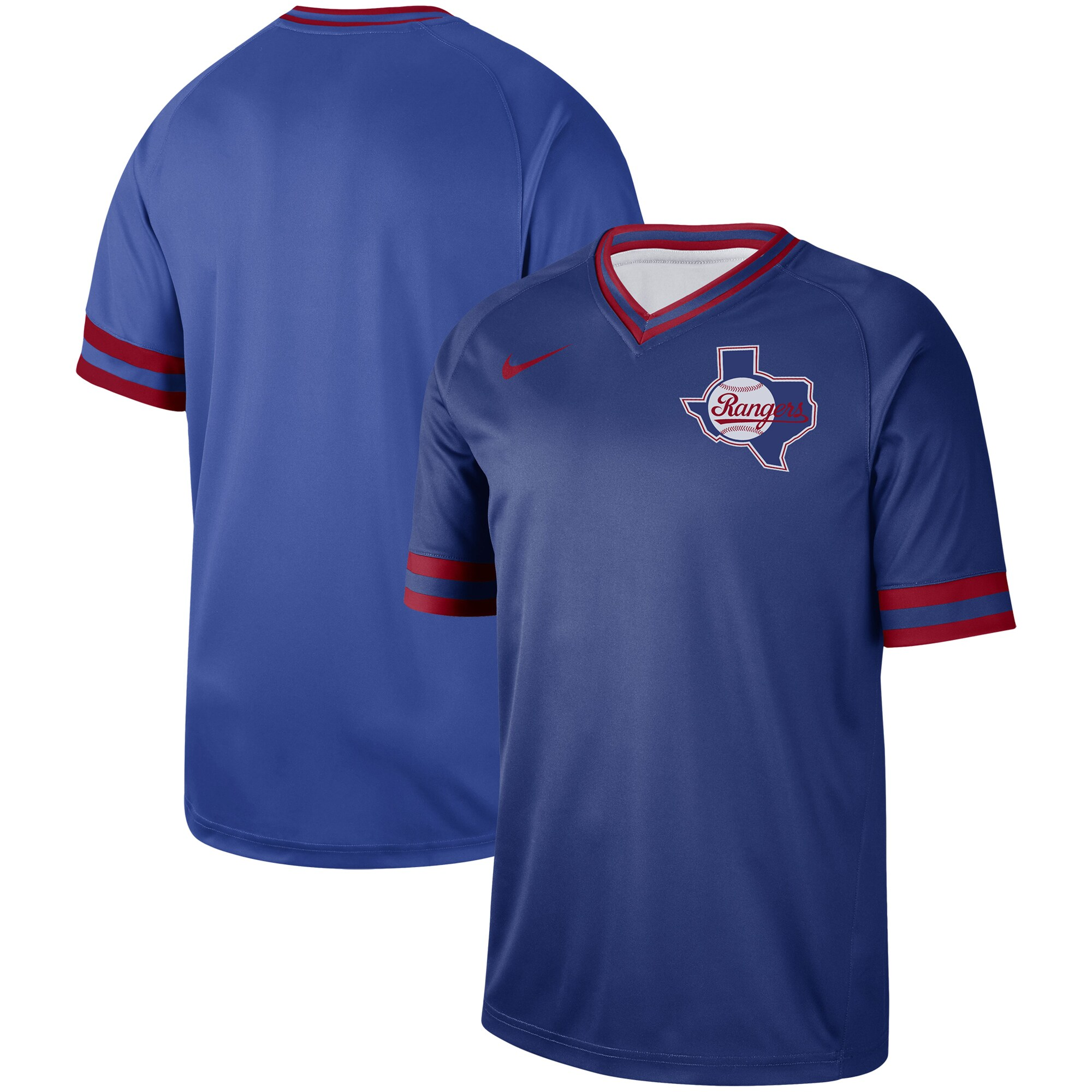 Texas Rangers Nike Cooperstown Collection Legend V-Neck Jersey - Royal