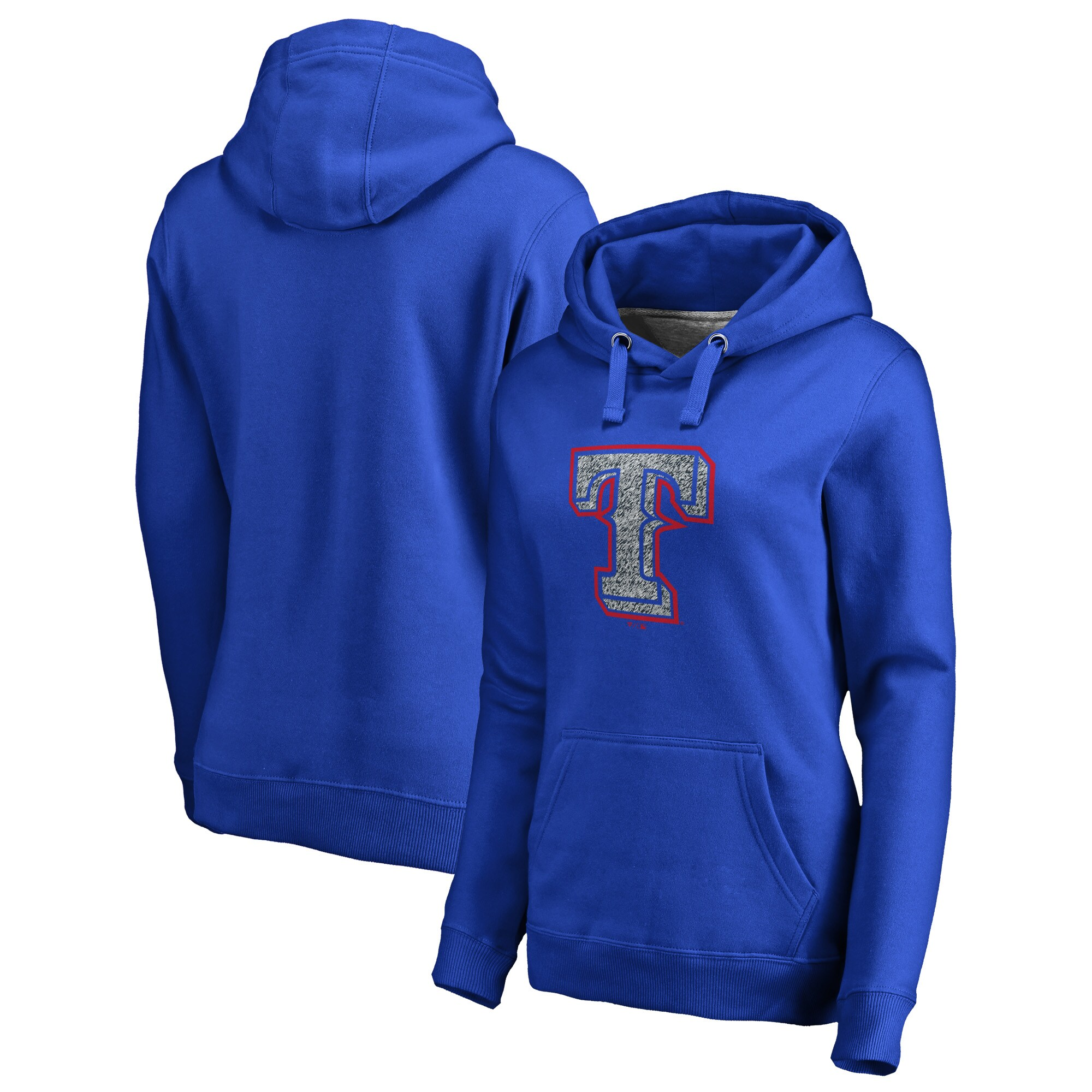 Texas Rangers Fanatics Branded Women's Static Logo Pullover Hoodie - Royal