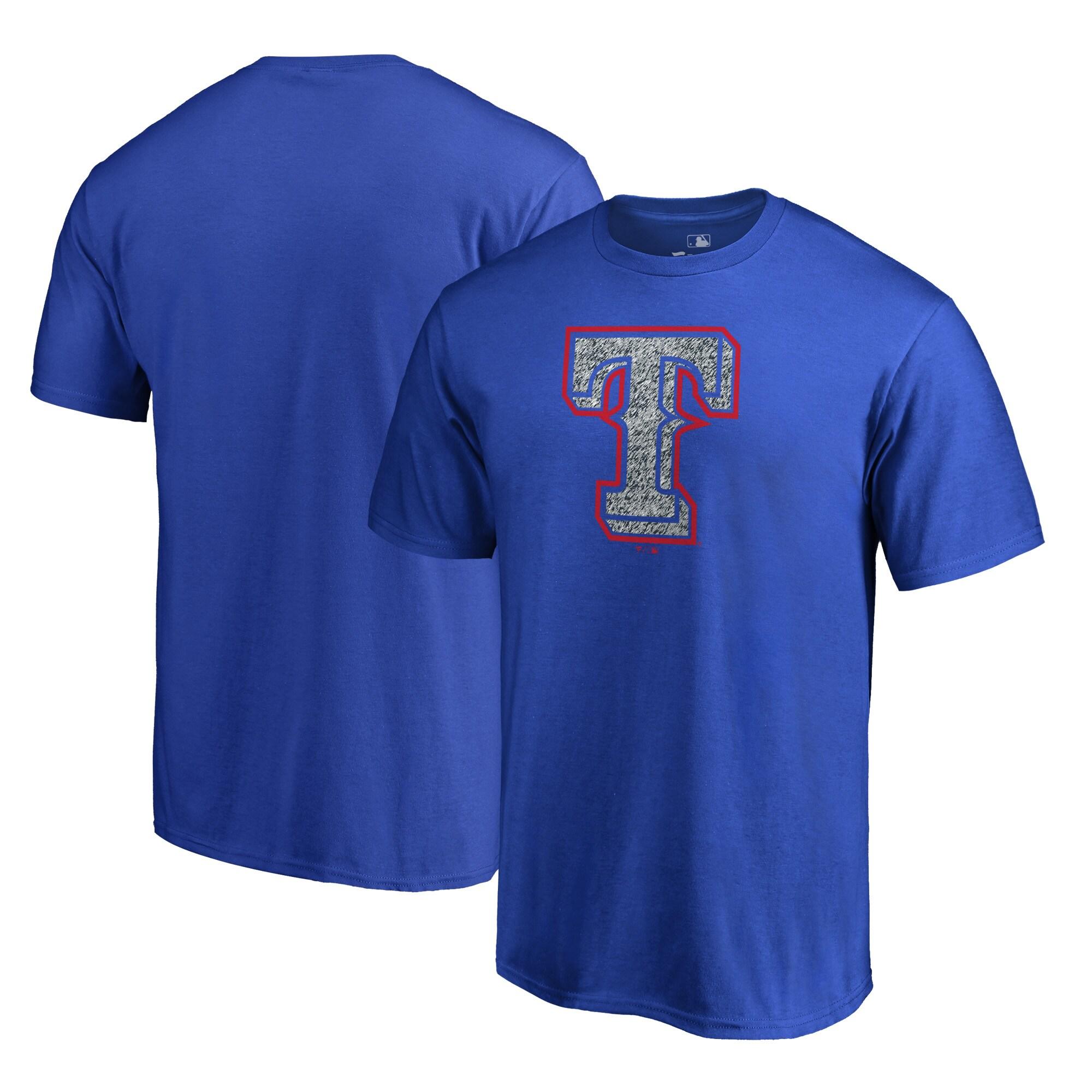 Texas Rangers Fanatics Branded Static Logo T-Shirt - Royal