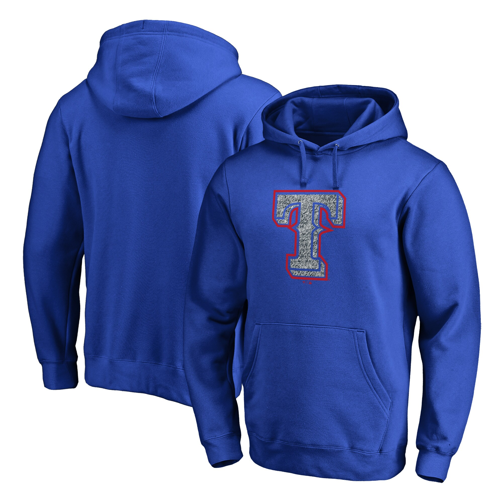 Texas Rangers Fanatics Branded Static Logo Pullover Hoodie - Royal
