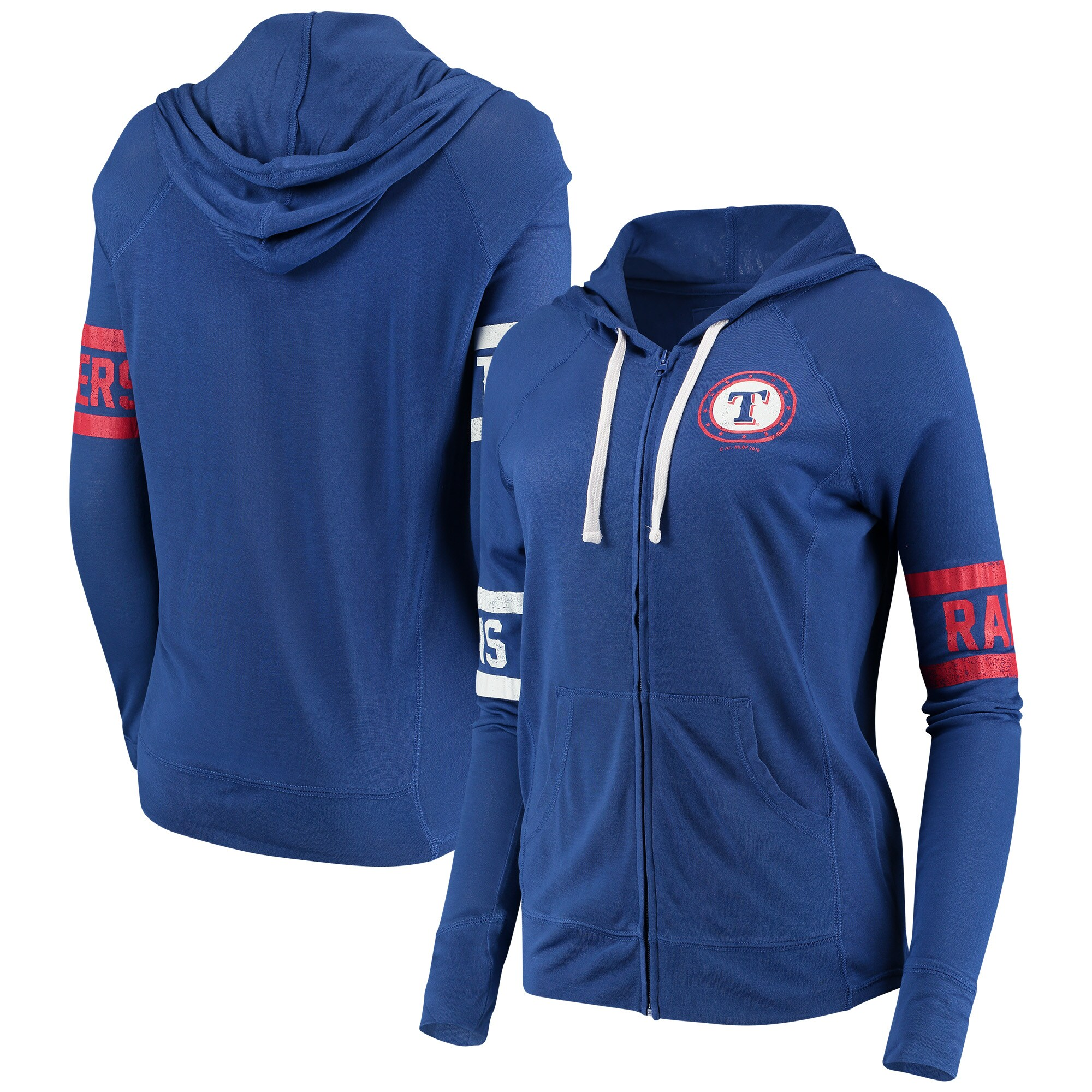 Texas Rangers Touch by Alyssa Milano Women's Postseason Hoodie - Royal