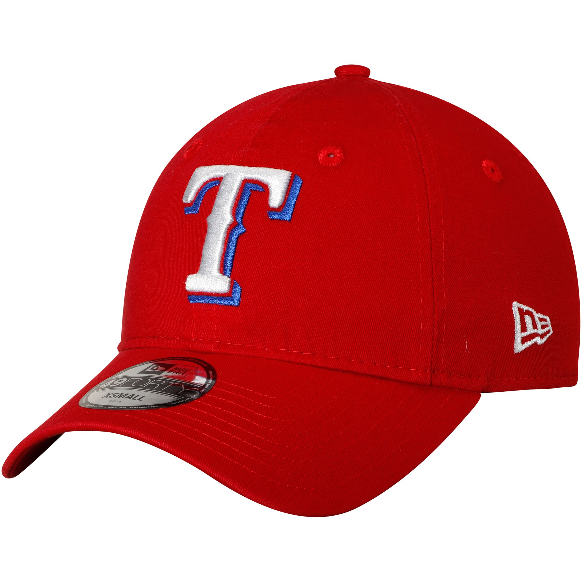Texas Rangers New Era Core Fit Replica 49FORTY Fitted Hat - Red