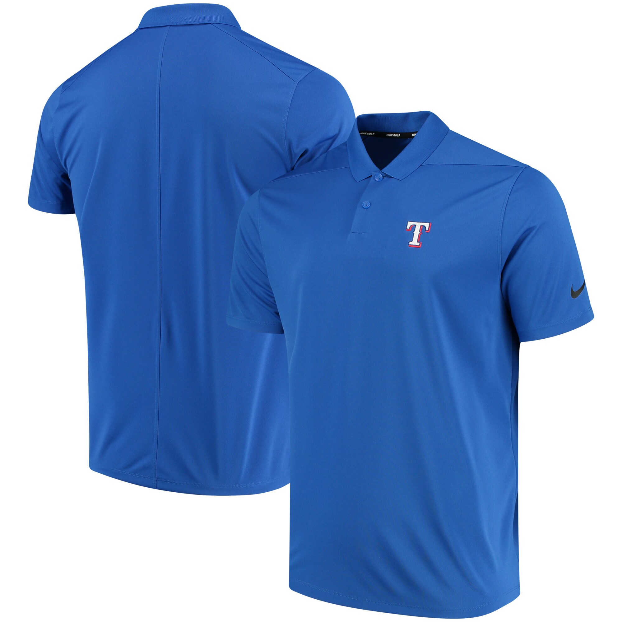 Texas Rangers Nike Golf Solid Victory Performance Polo - Royal