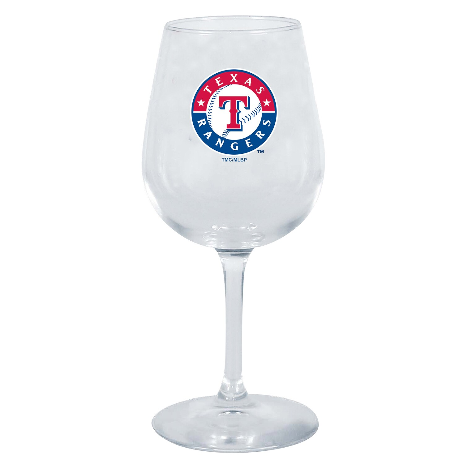 Texas Rangers 12oz. Stemmed Wine Glass