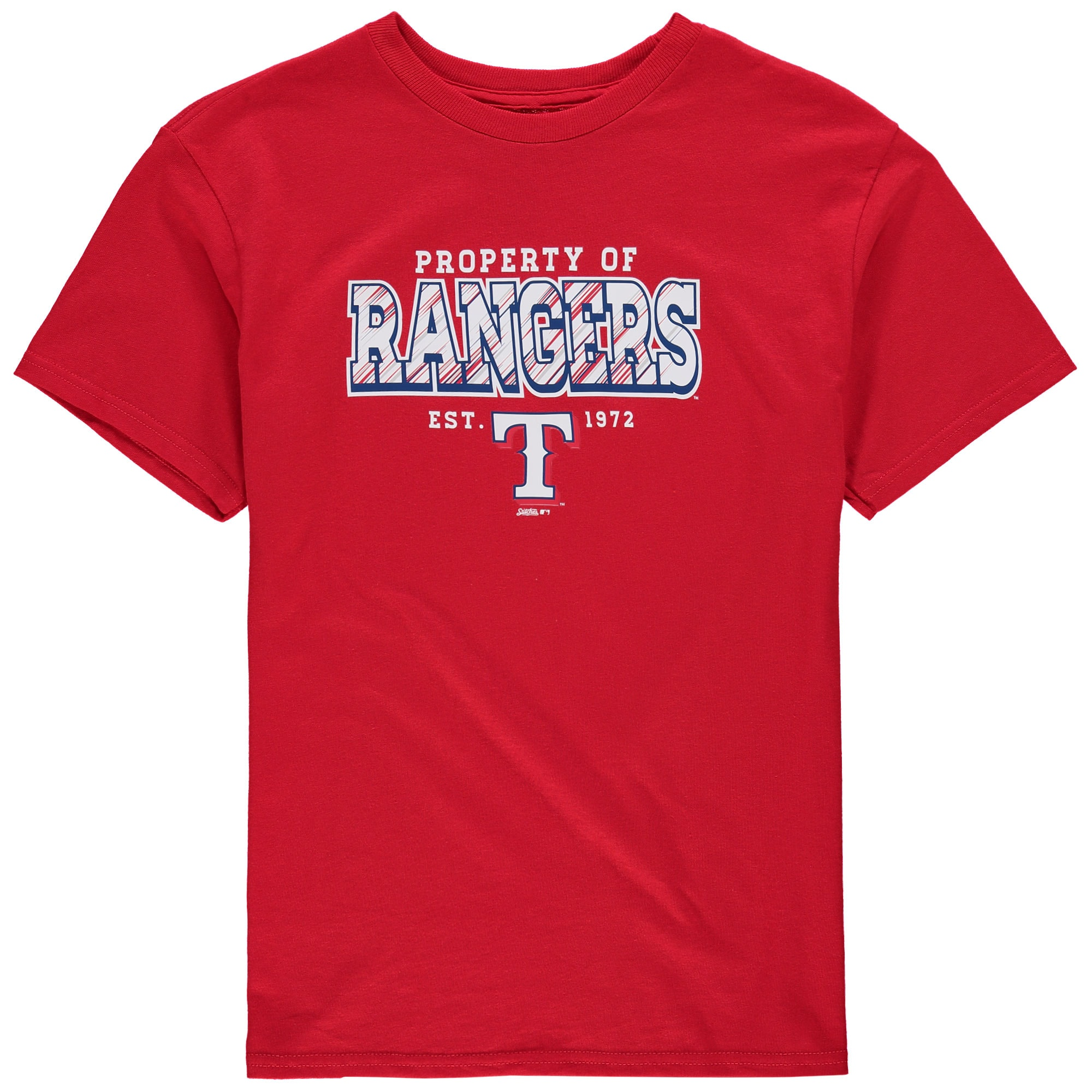 Texas Rangers Stitches Youth Property Of Team T-Shirt - Red
