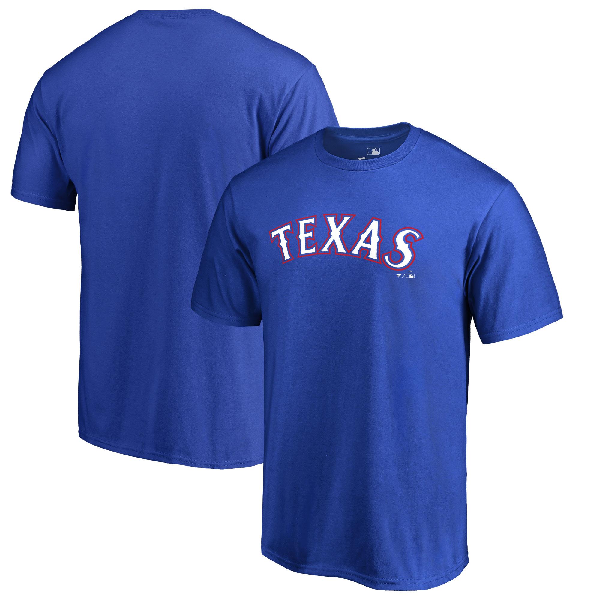 Texas Rangers Fanatics Branded Team Wordmark T-Shirt - Royal
