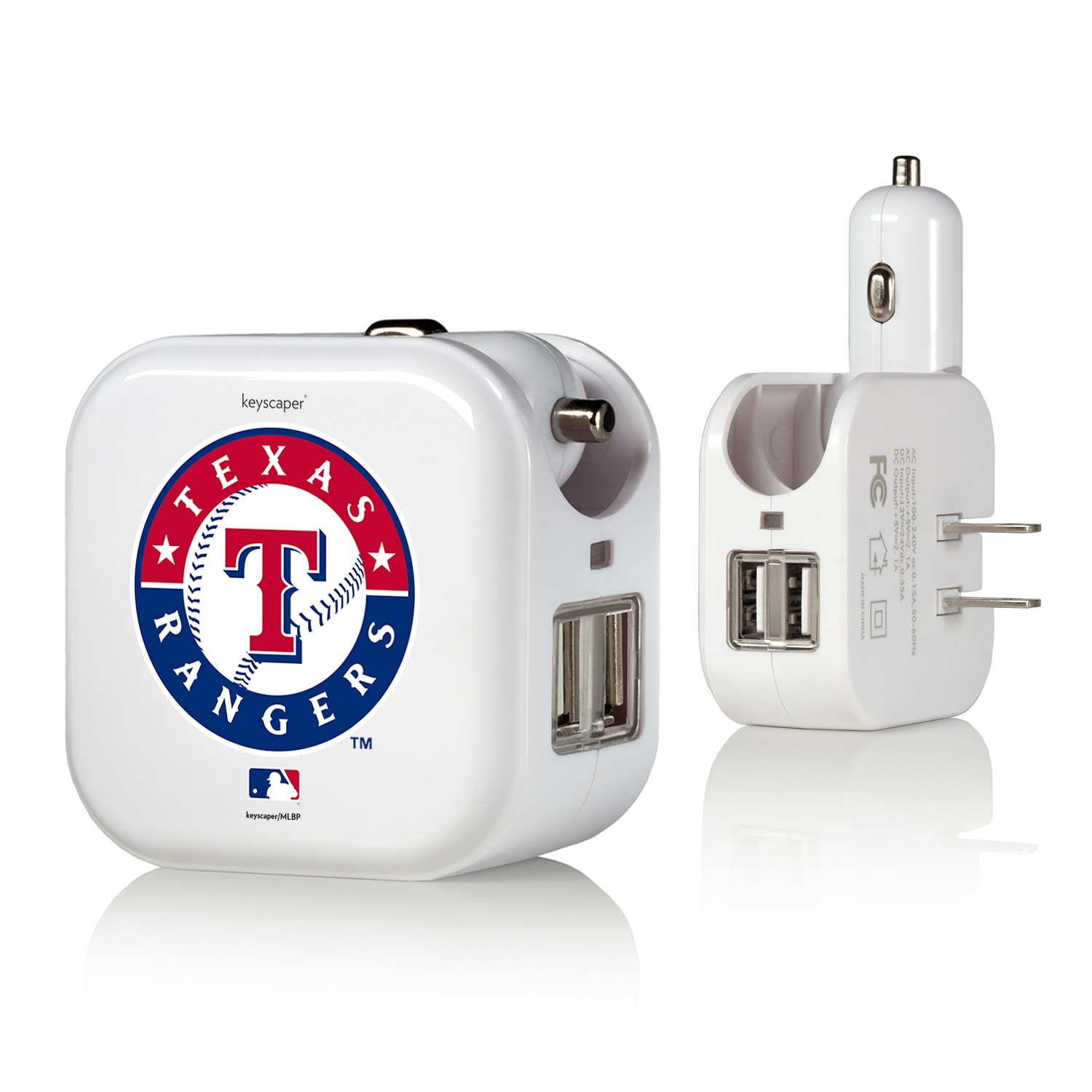 Texas Rangers 2-In-1 USB Charger