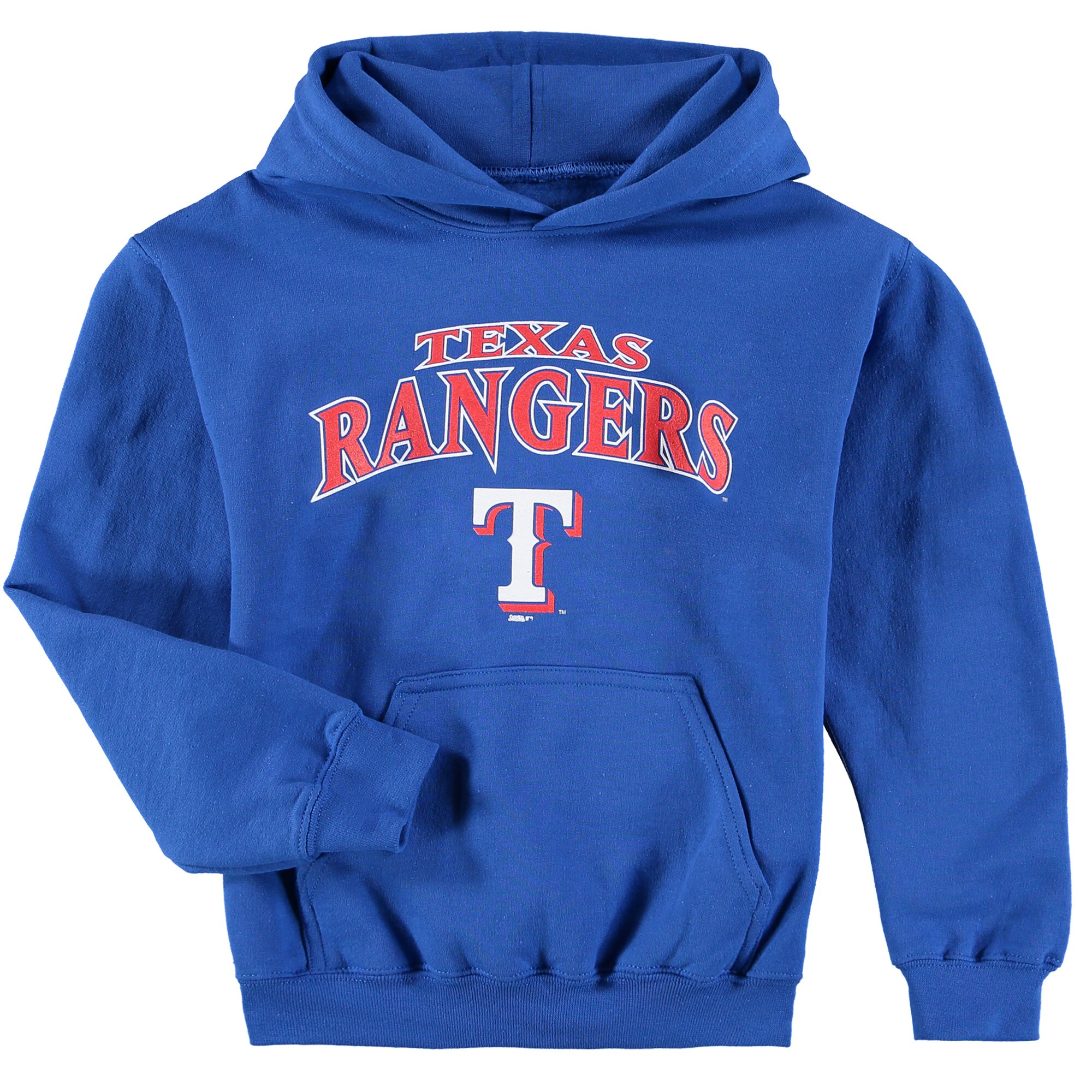 Texas Rangers Stitches Youth Team Fleece Pullover Hoodie - Royal