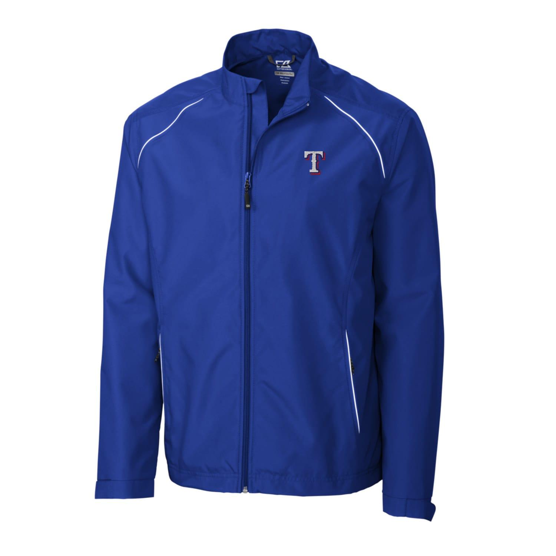 Texas Rangers Cutter & Buck Big & Tall WeatherTec Beacon Full Zip Jacket - Royal