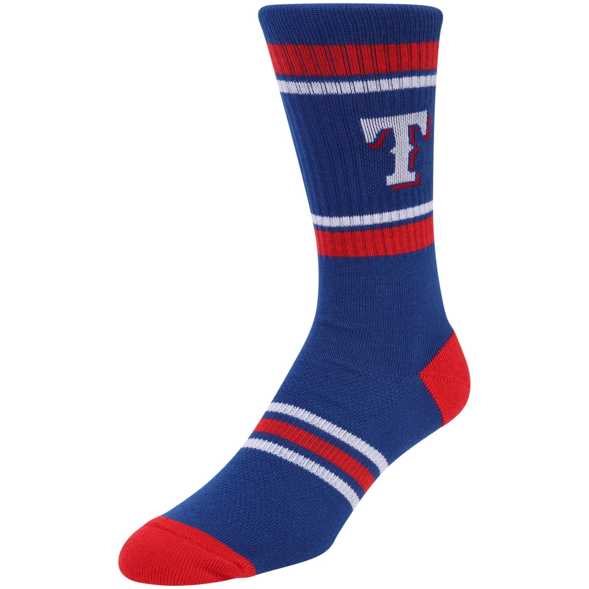 Texas Rangers Stripe Crew Socks - Blue