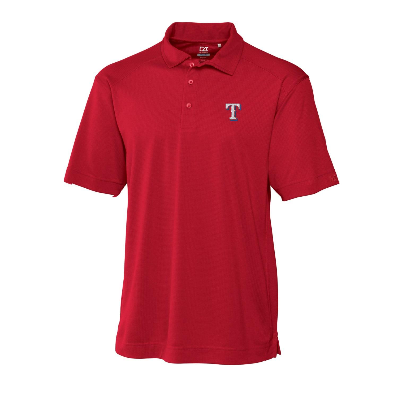 Texas Rangers Cutter & Buck Big & Tall DryTec Genre Polo - Red