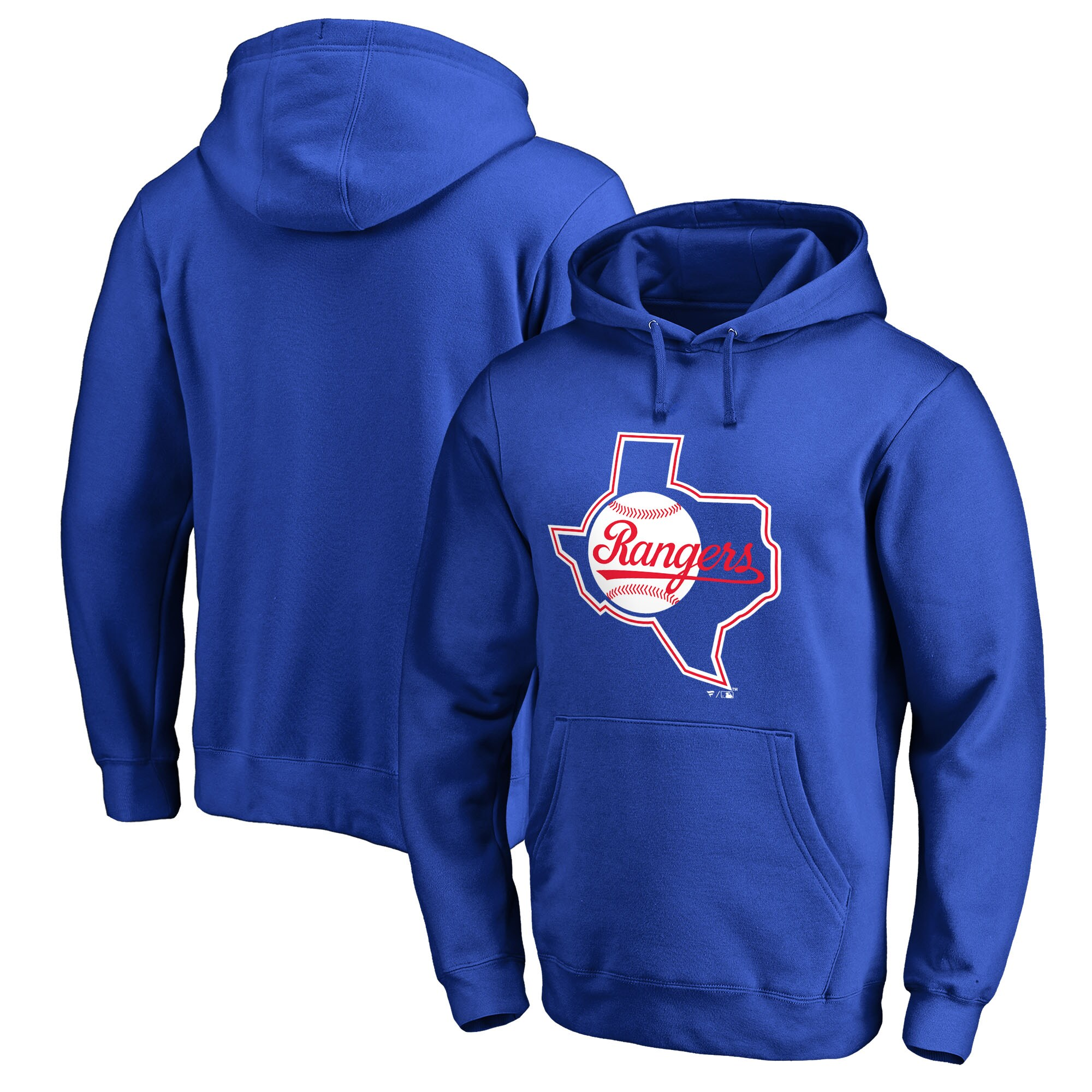 Texas Rangers Fanatics Branded Cooperstown Collection Huntington Pullover Hoodie - Royal
