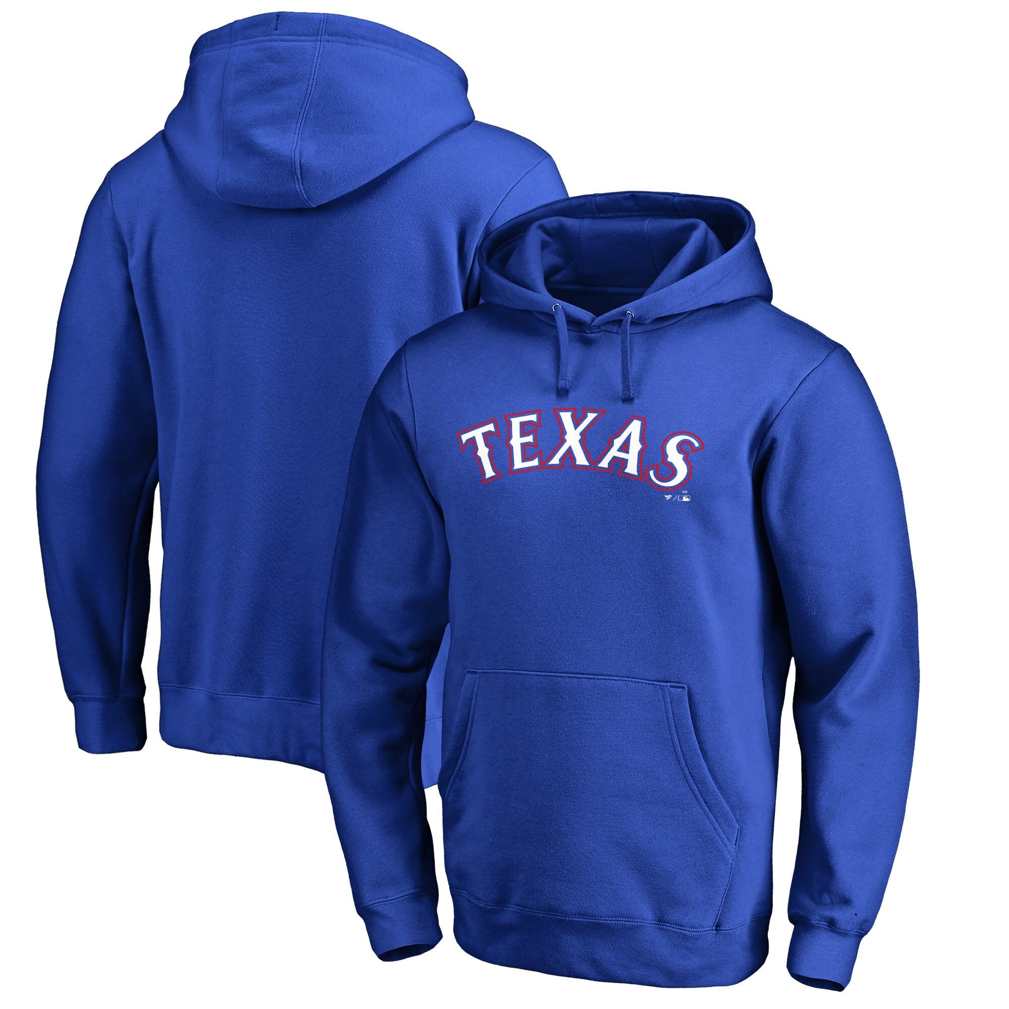 Texas Rangers Fanatics Branded Team Wordmark Pullover Hoodie - Royal