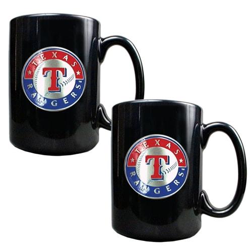 Texas Rangers 15oz. Coffee Mug Set - Black