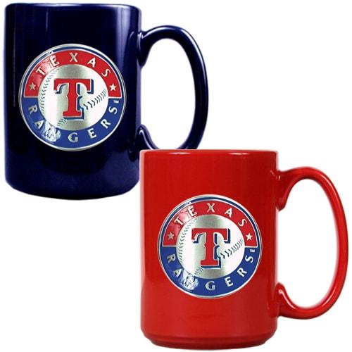 Texas Rangers 15oz. Coffee Mug Set - Royal/Red