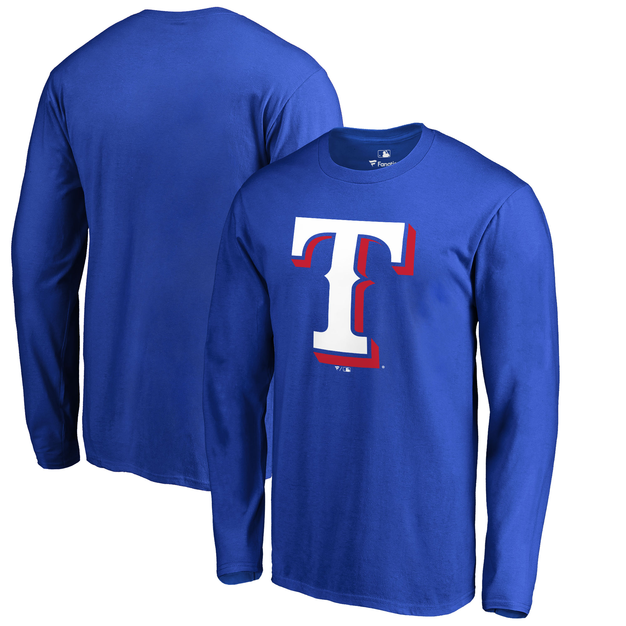 Texas Rangers Big & Tall Primary Team Logo Long Sleeve T-Shirt - Royal
