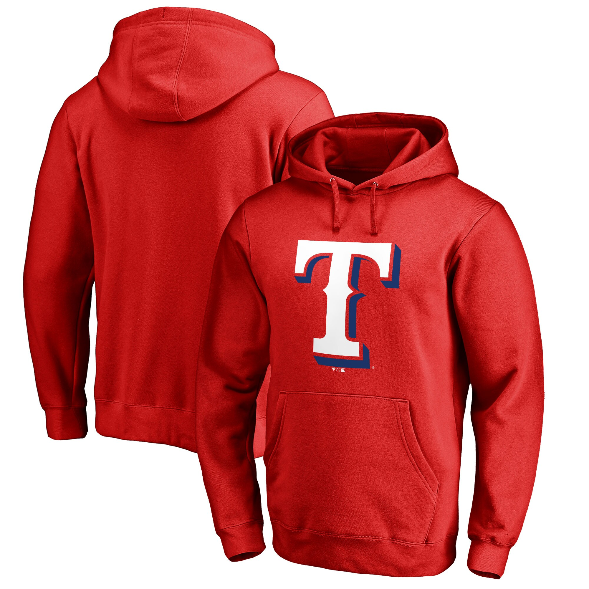 Texas Rangers Big & Tall Primary Team Logo Pullover Hoodie - Red