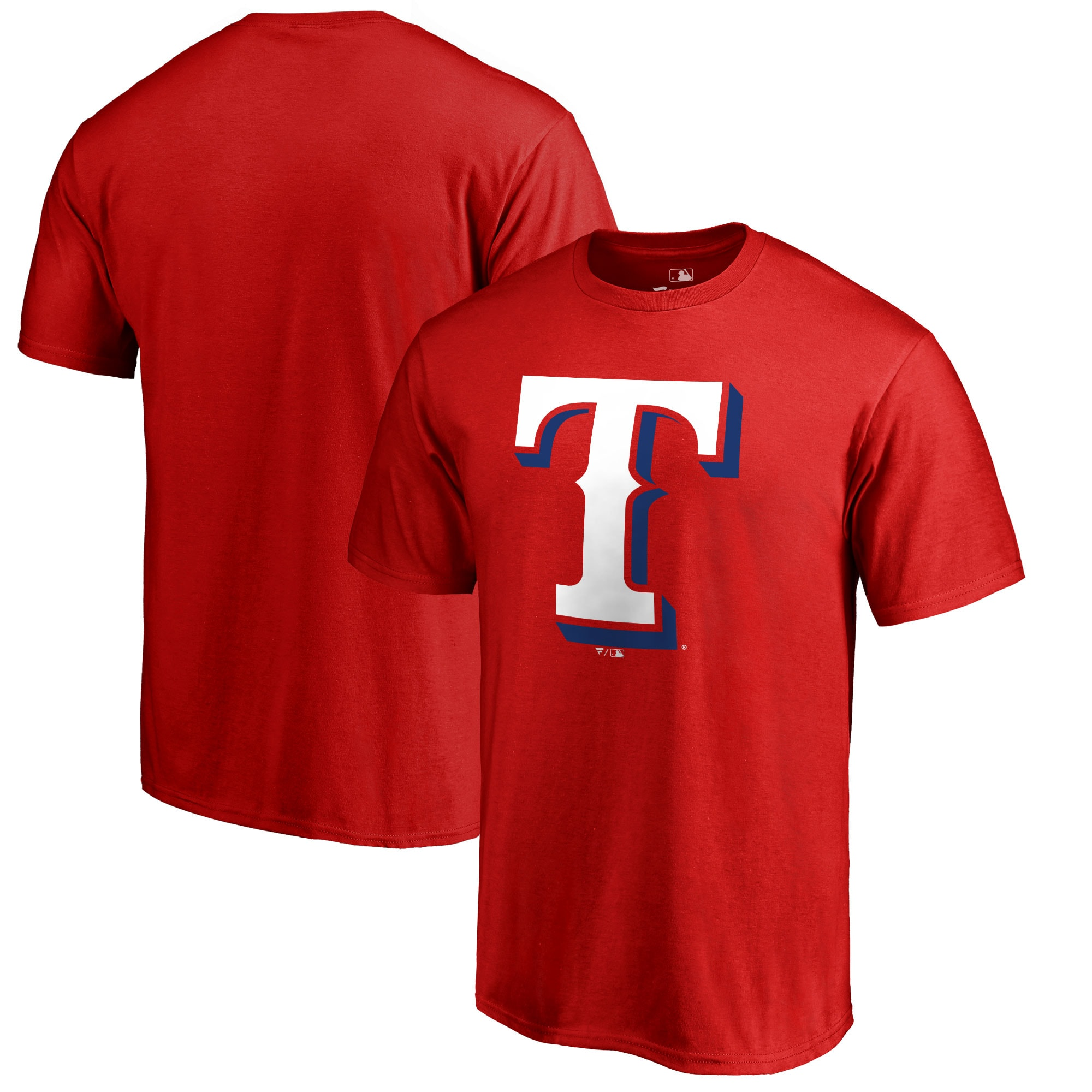 Texas Rangers Big & Tall Primary Team Logo T-Shirt - Red