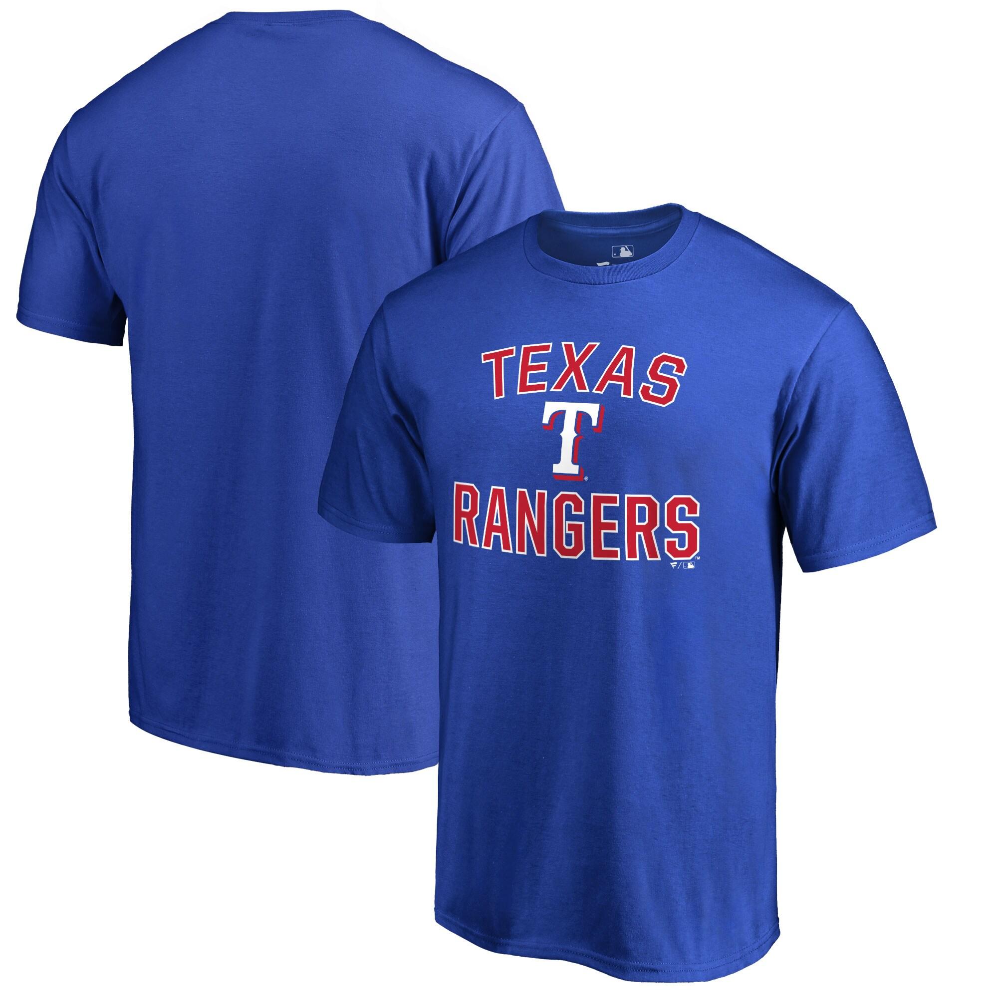 Texas Rangers Victory Arch Big & Tall T-Shirt - Blue
