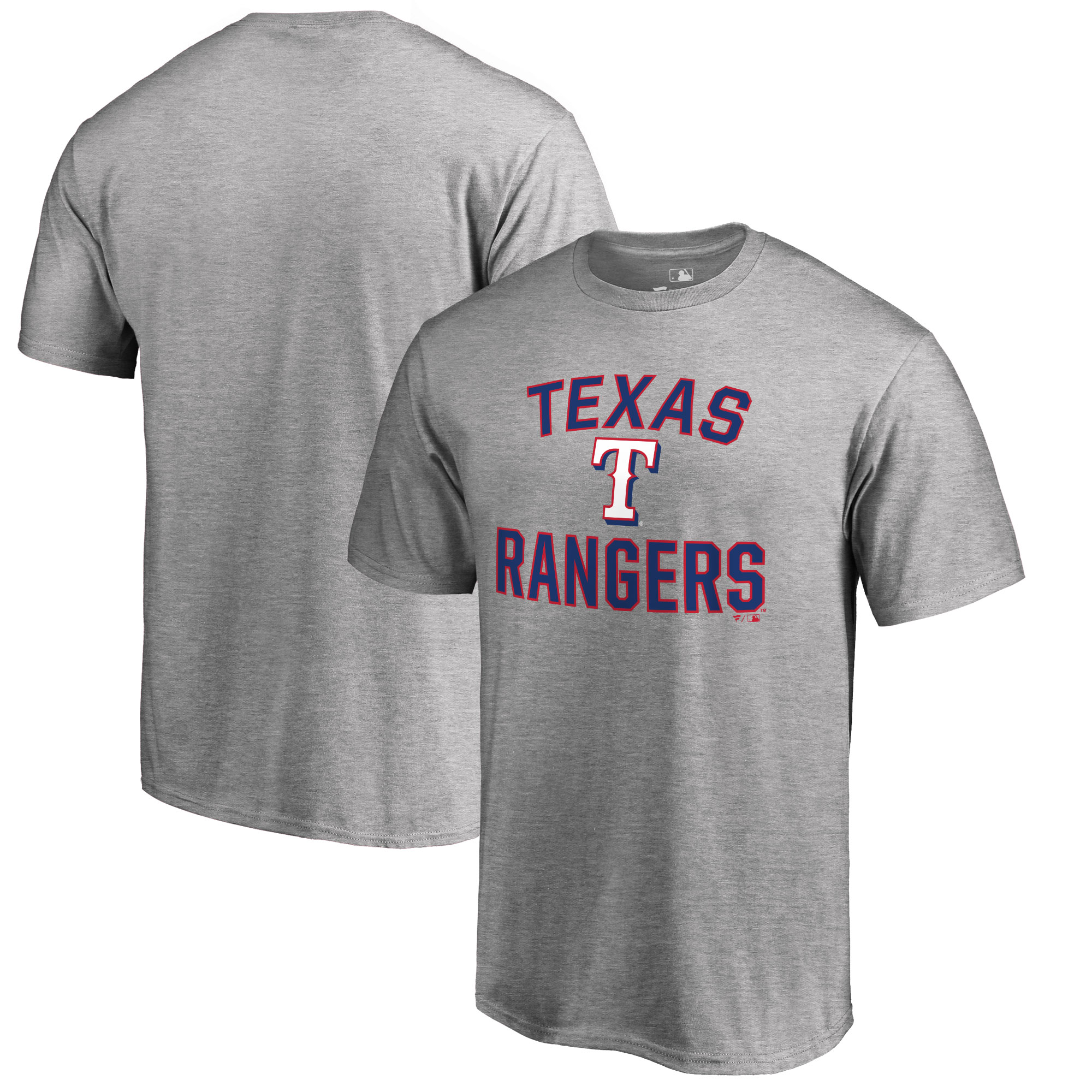Texas Rangers Big & Tall Victory Arch T-Shirt - Ash