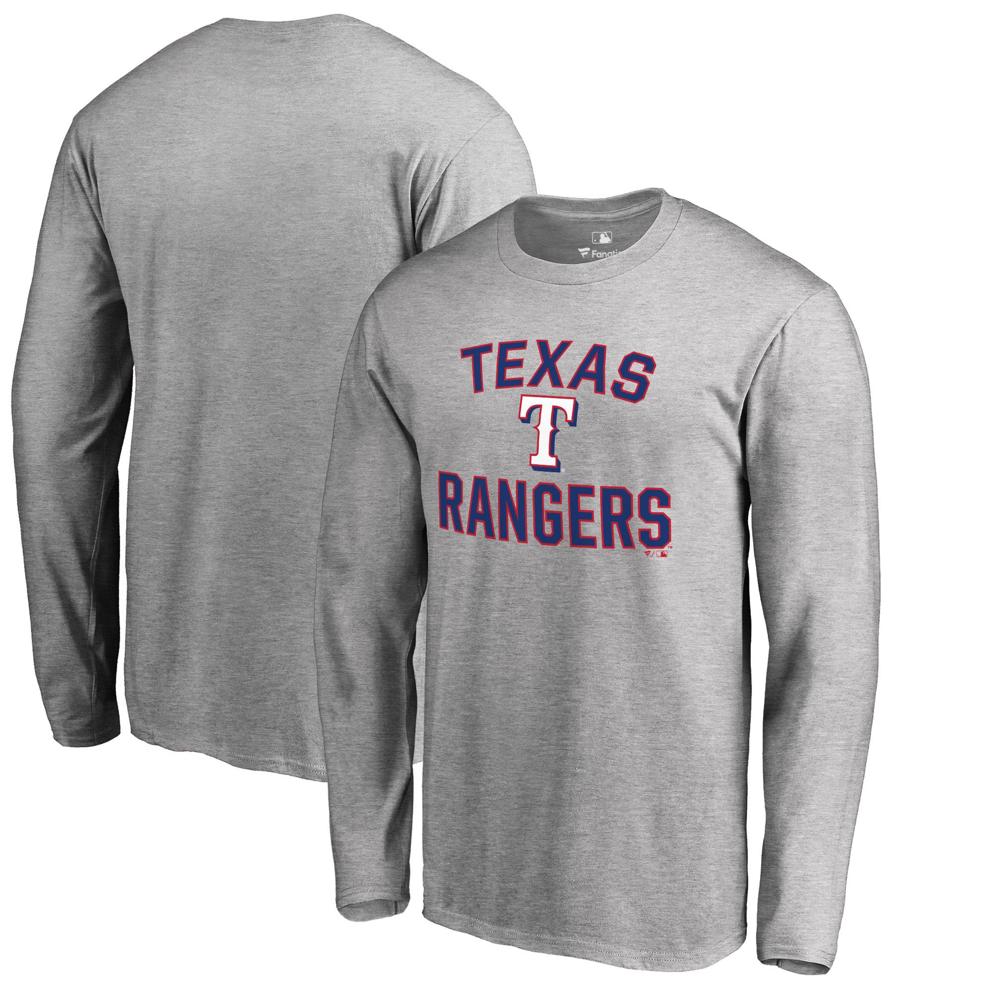 Texas Rangers Big & Tall Victory Arch Long Sleeve T-Shirt - Ash