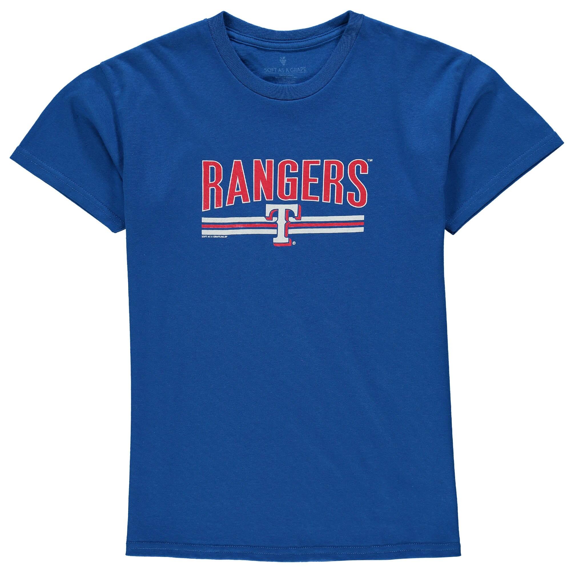 Texas Rangers Soft as a Grape Youth On Base Crew T-Shirt - Royal