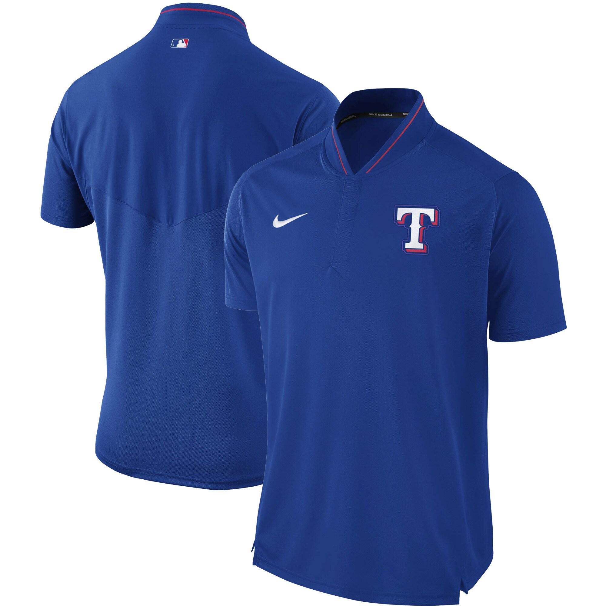 Texas Rangers Nike Authentic Collection Elite Performance Polo - Royal