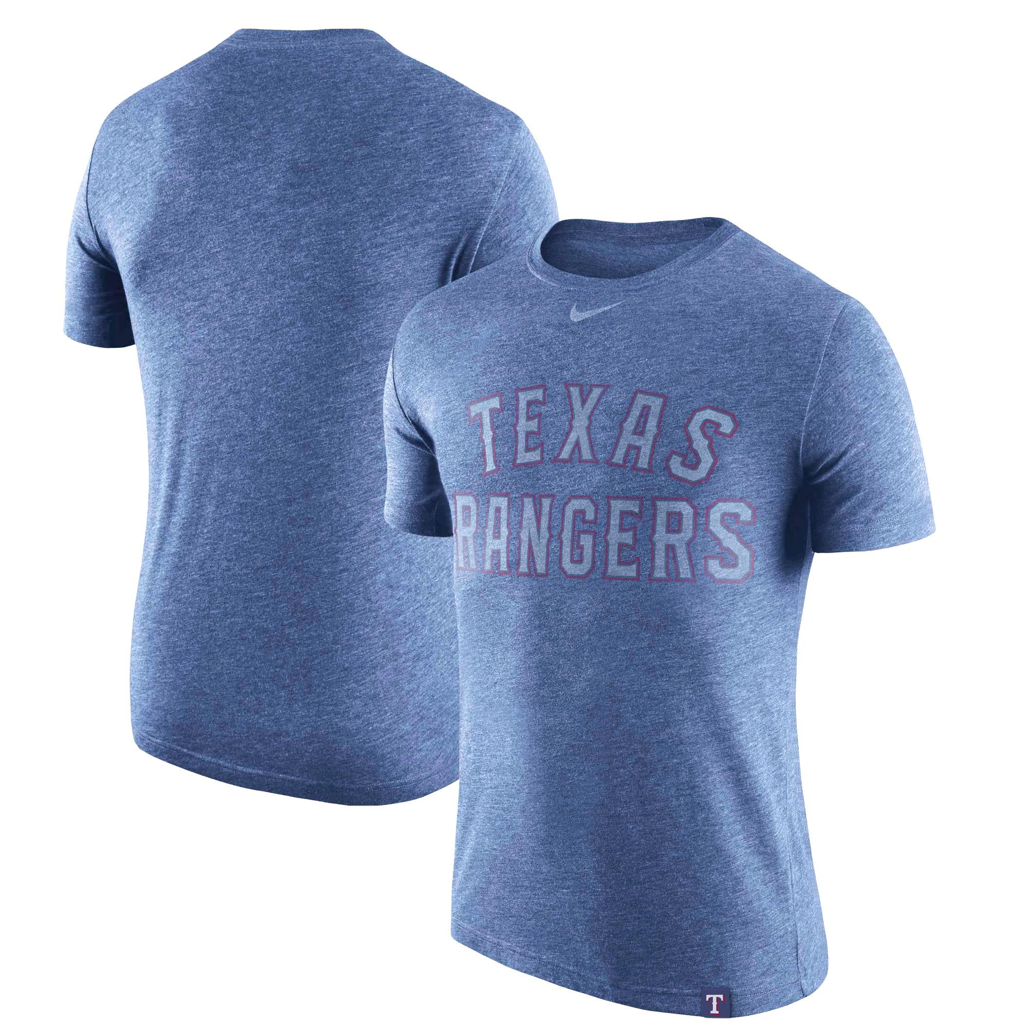 Texas Rangers Nike Tri-Blend DNA Performance T-Shirt - Heathered Royal