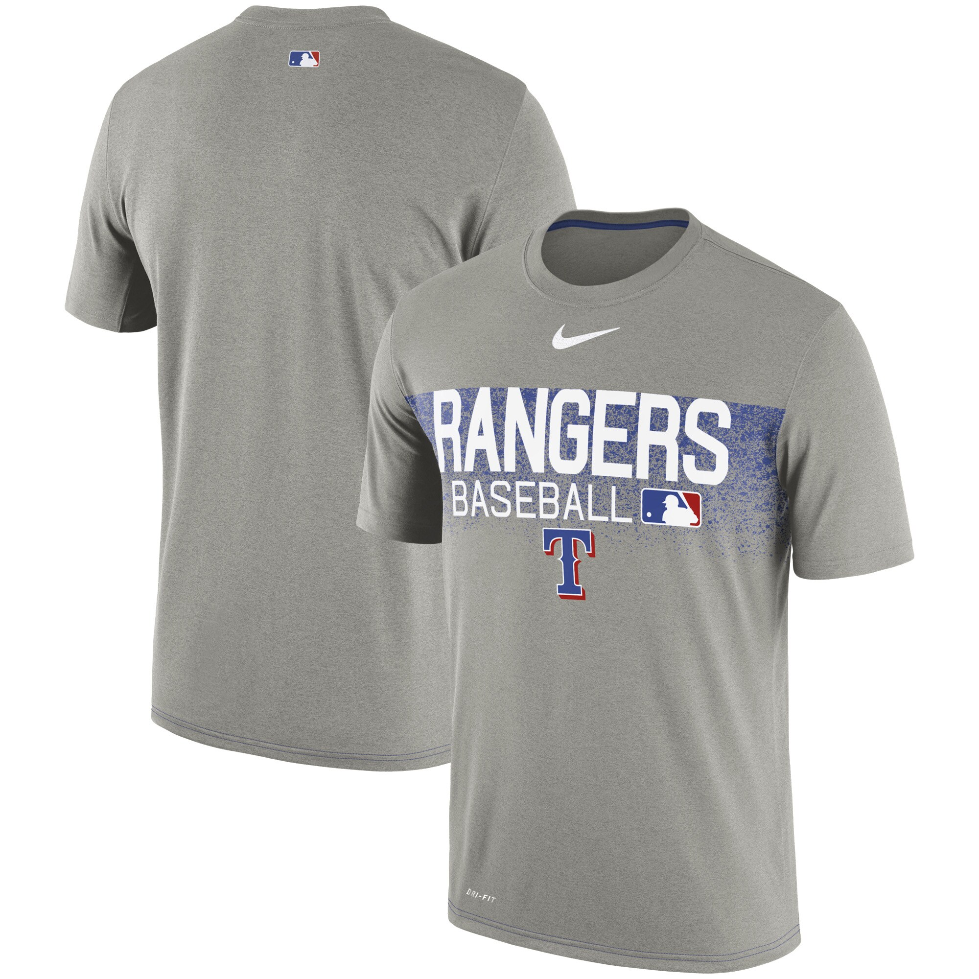 Texas Rangers Nike Authentic Collection Legend Team Issued Performance T-Shirt - Gray