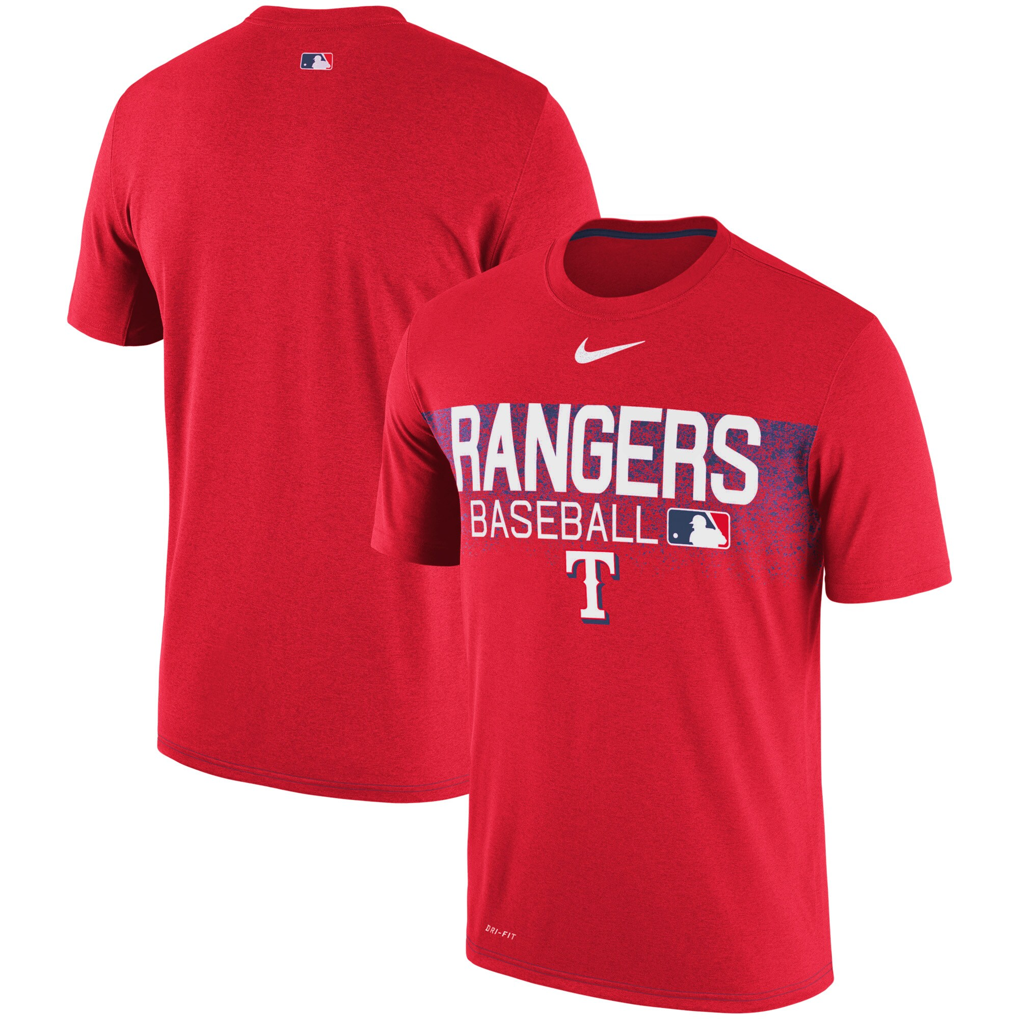 Texas Rangers Nike Authentic Collection Legend Team Issued Performance T-Shirt - Red