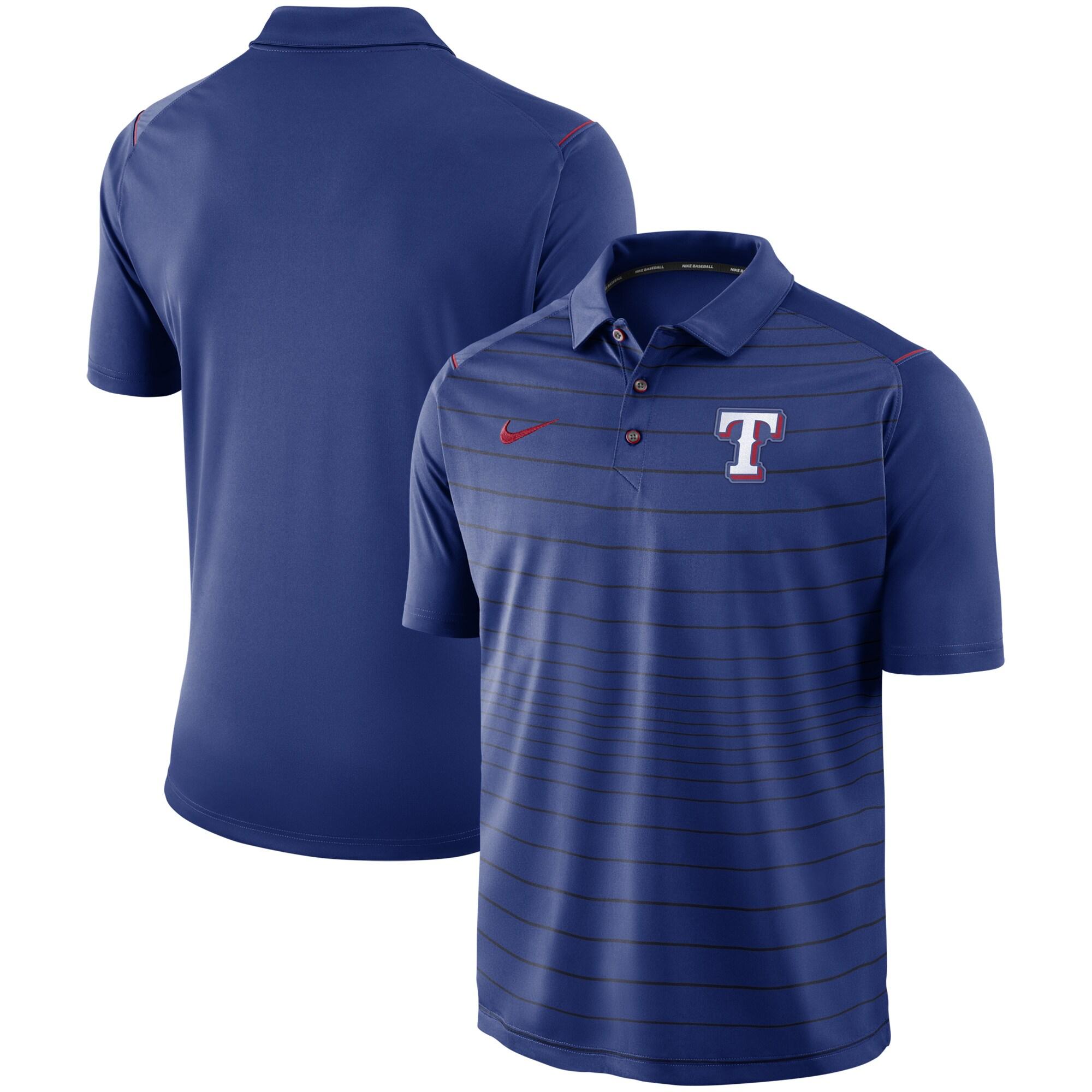 Texas Rangers Nike Stripe Polo - Royal