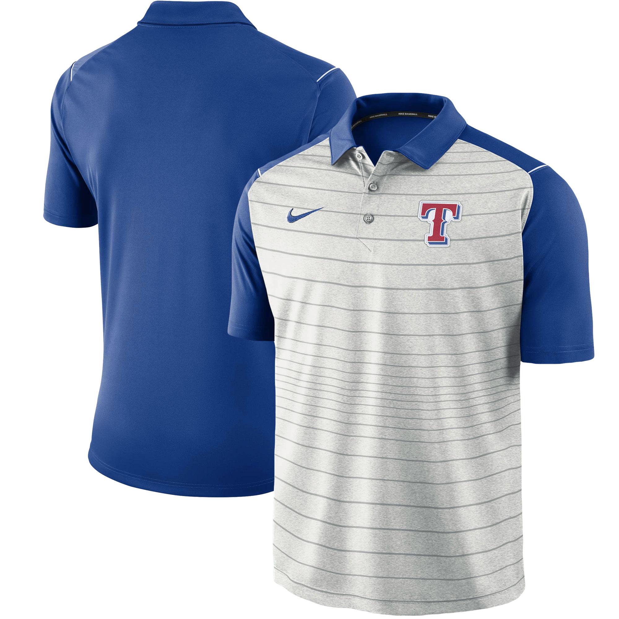 Texas Rangers Nike Stripe Polo - Gray