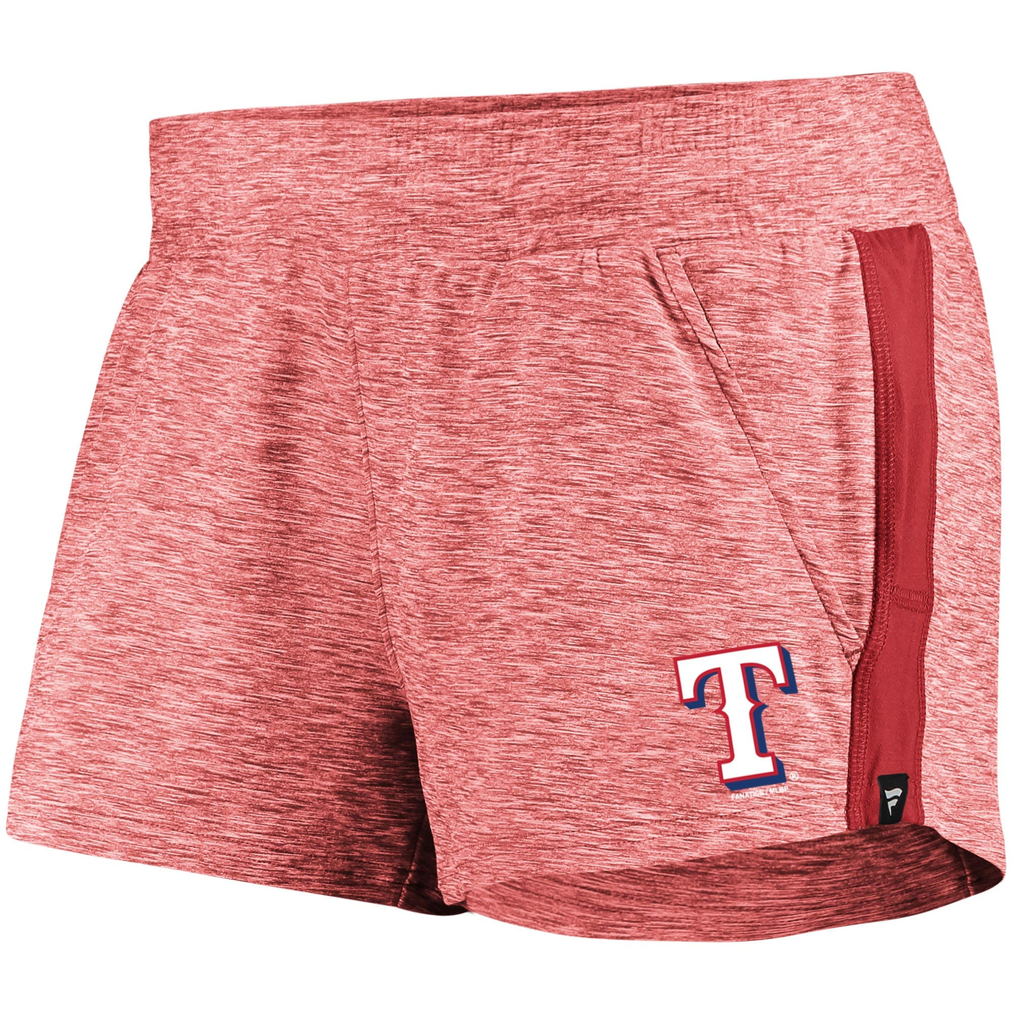 Texas Rangers Fanatics Branded Women's Made To Move Running Shorts - Heathered Red/Red